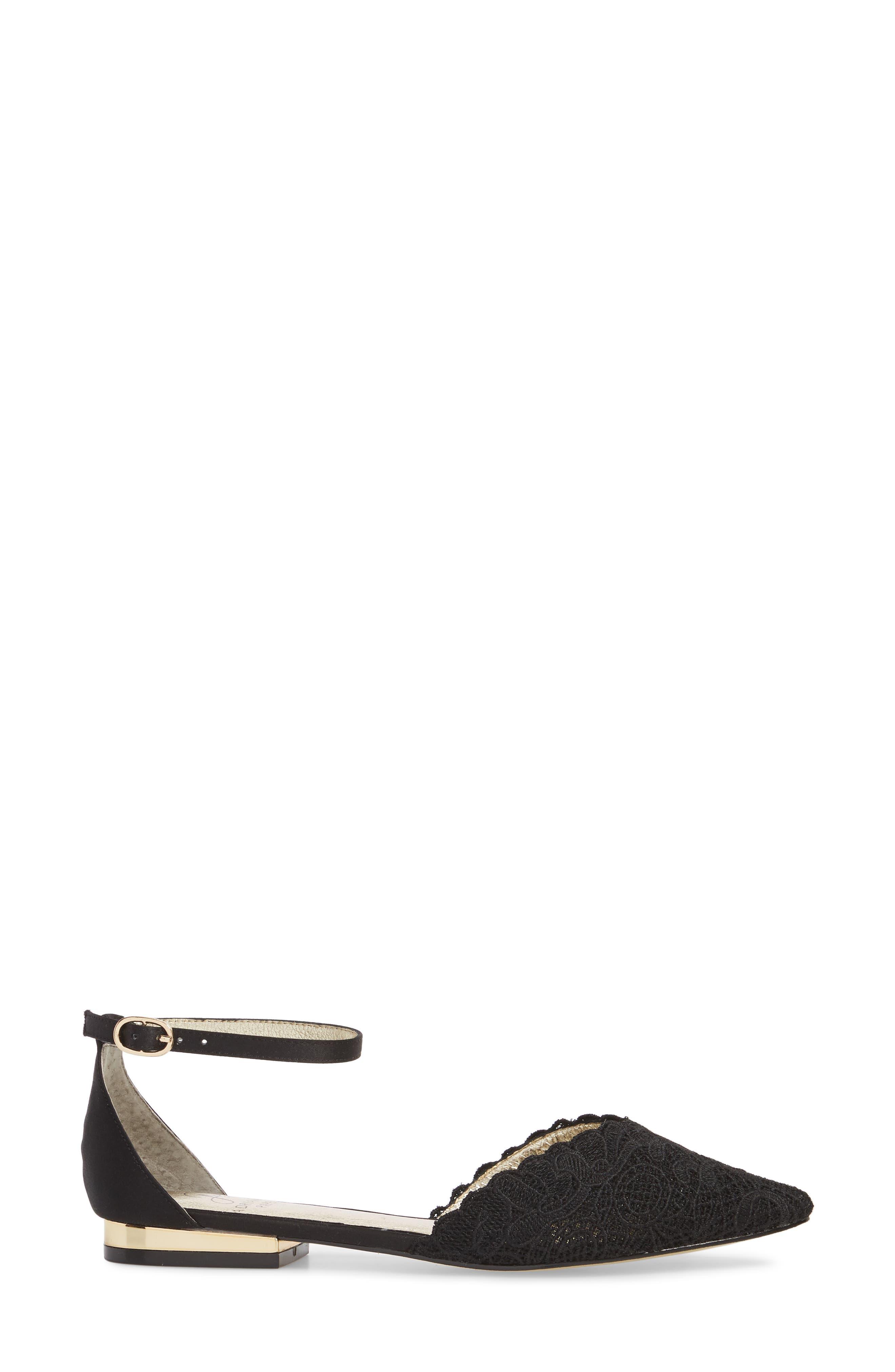 Trala Ankle Strap Flat,                             Alternate thumbnail 3, color,                             001