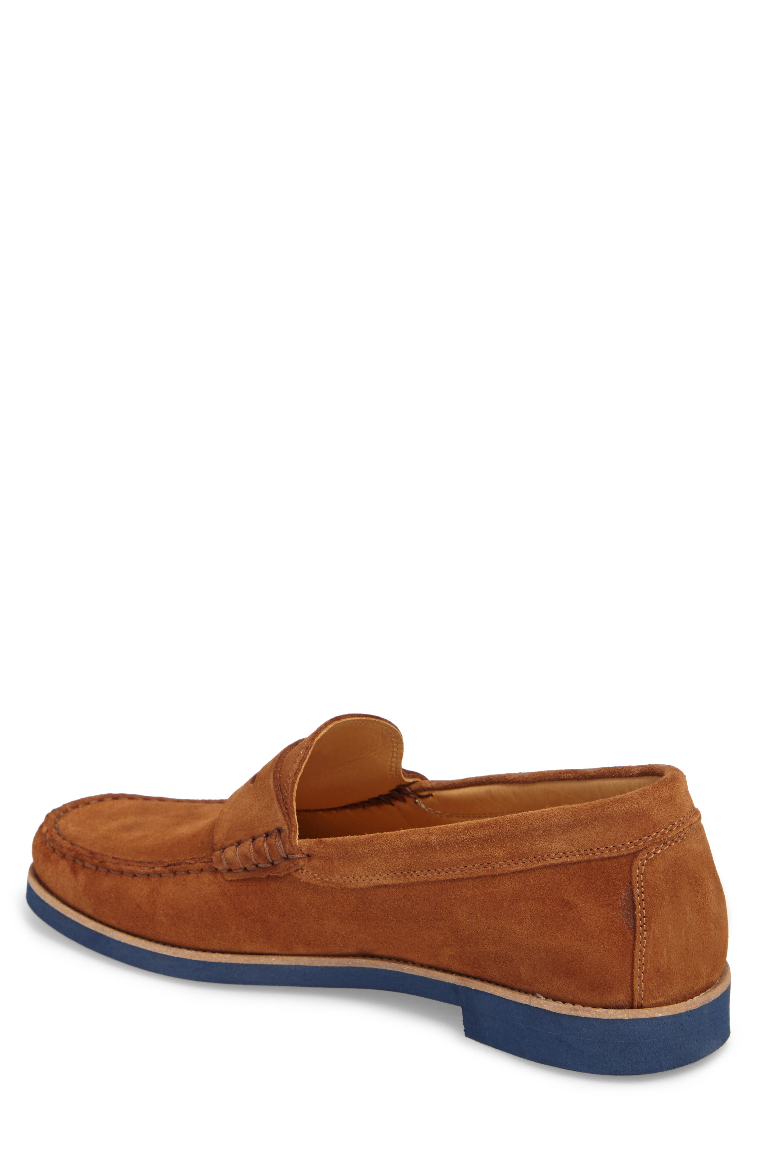 Kennedy Penny Loafer,                             Alternate thumbnail 2, color,                             MEDIUM BROWN SUEDE