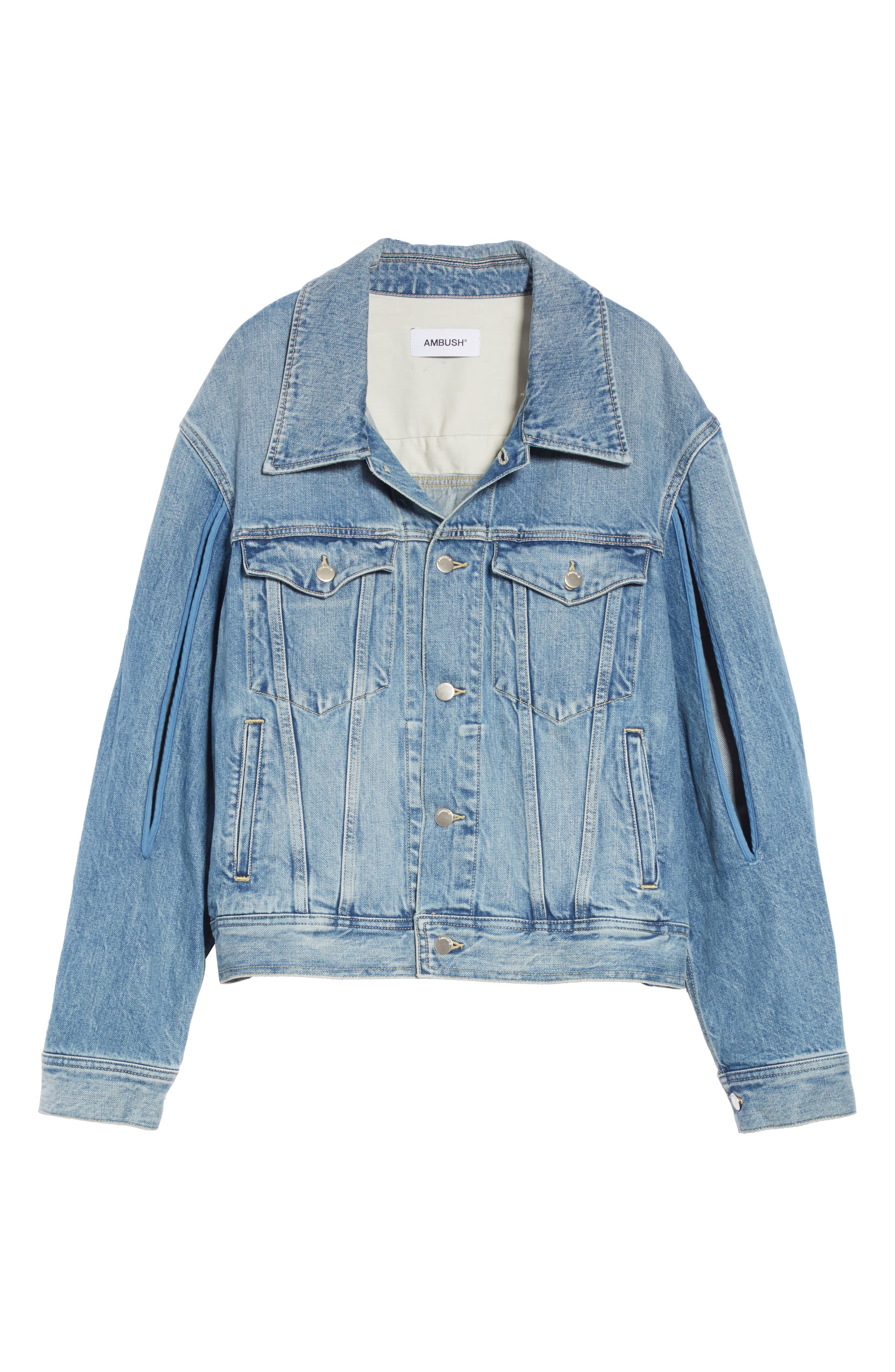 Denim Jacket,                             Alternate thumbnail 5, color,                             BLUE