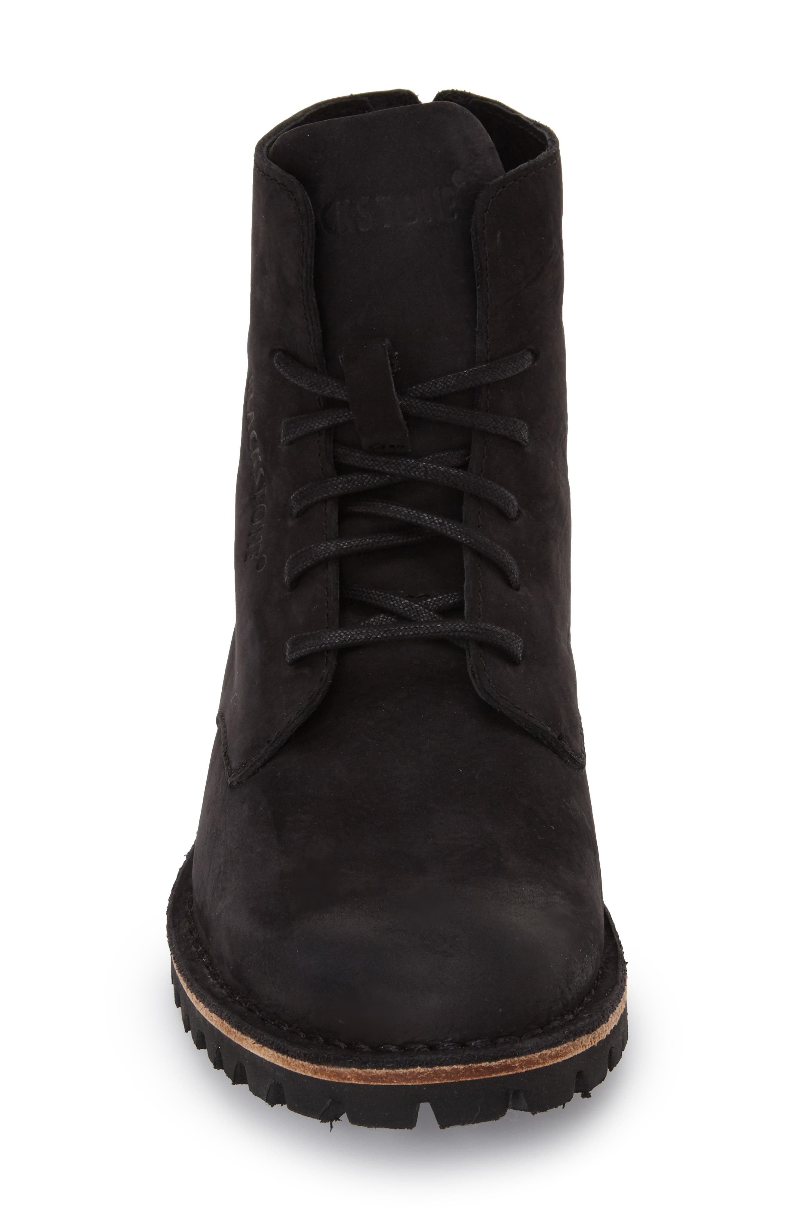 'KL67' Lace-Up Boot,                             Alternate thumbnail 6, color,                             BLACK LEATHER