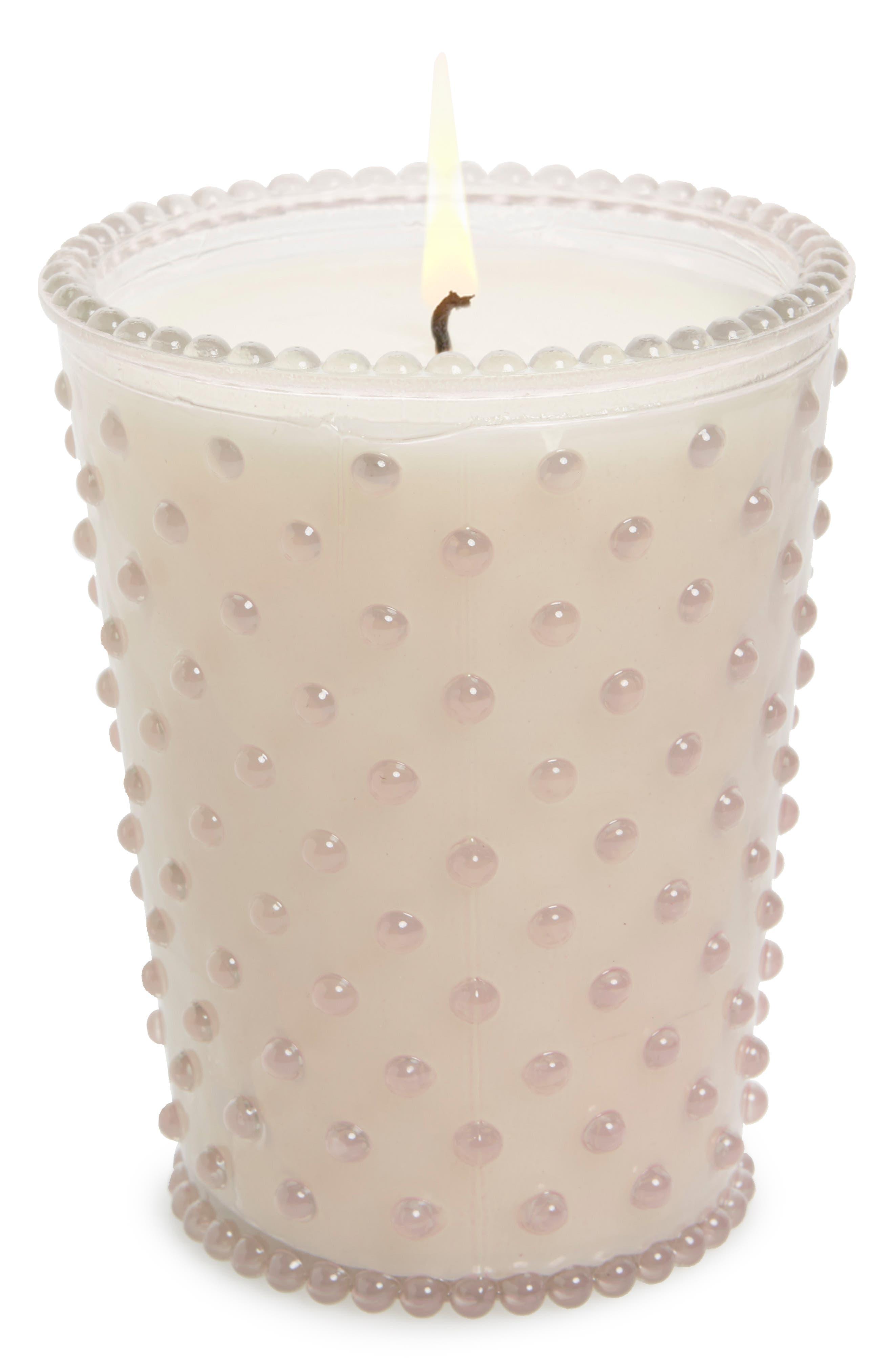 Hobnail Glass Candle,                             Main thumbnail 1, color,                             650