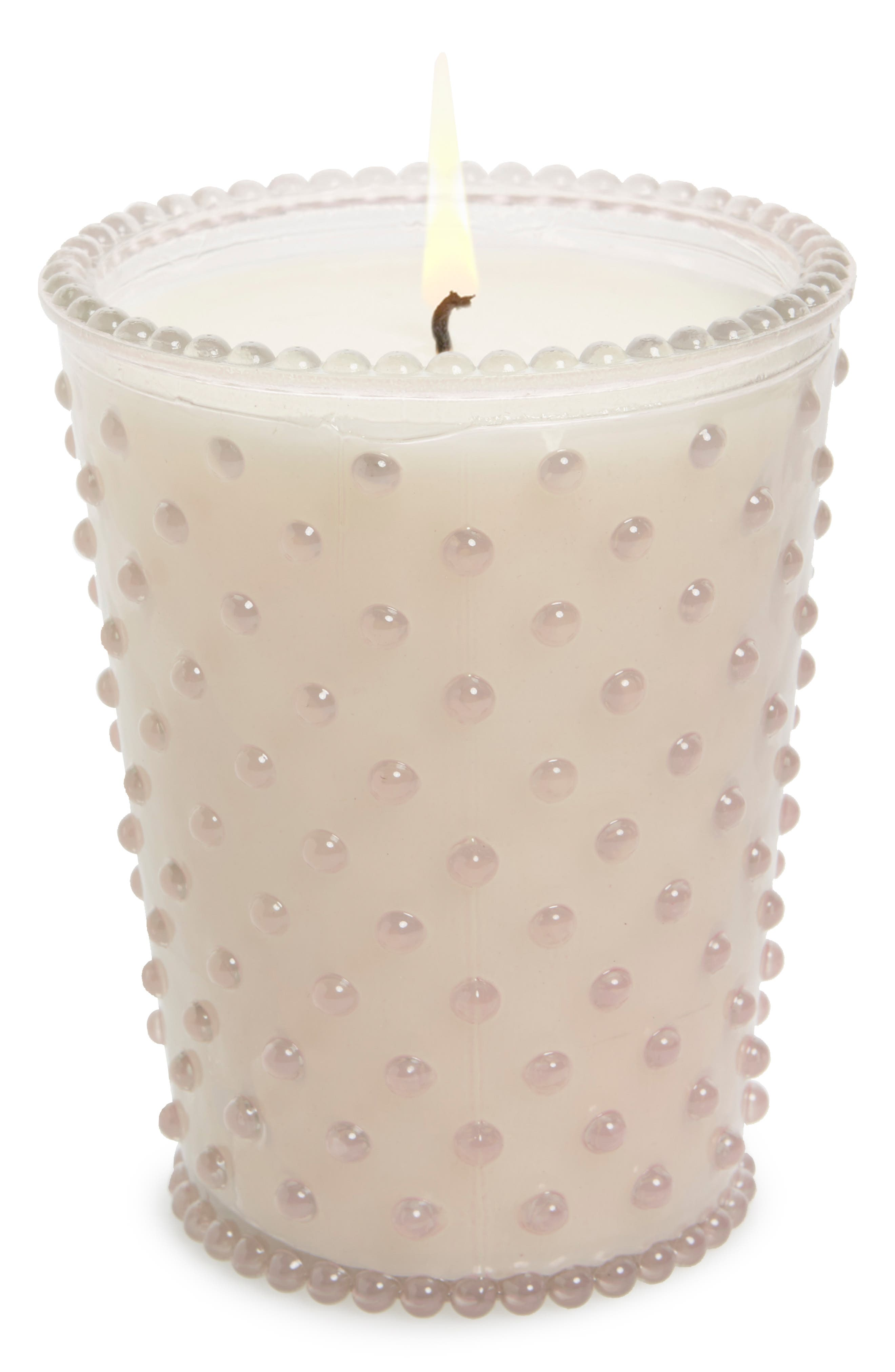 Hobnail Glass Candle,                         Main,                         color, 650