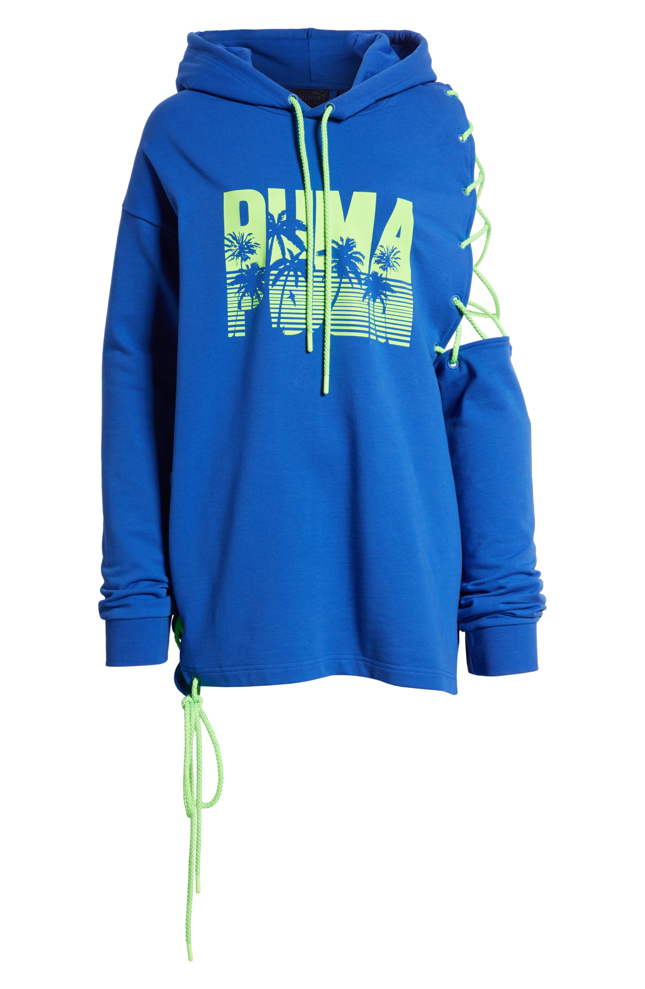 FENTY PUMA by Rihanna Side Lace-Up Hoodie,                             Alternate thumbnail 7, color,                             400