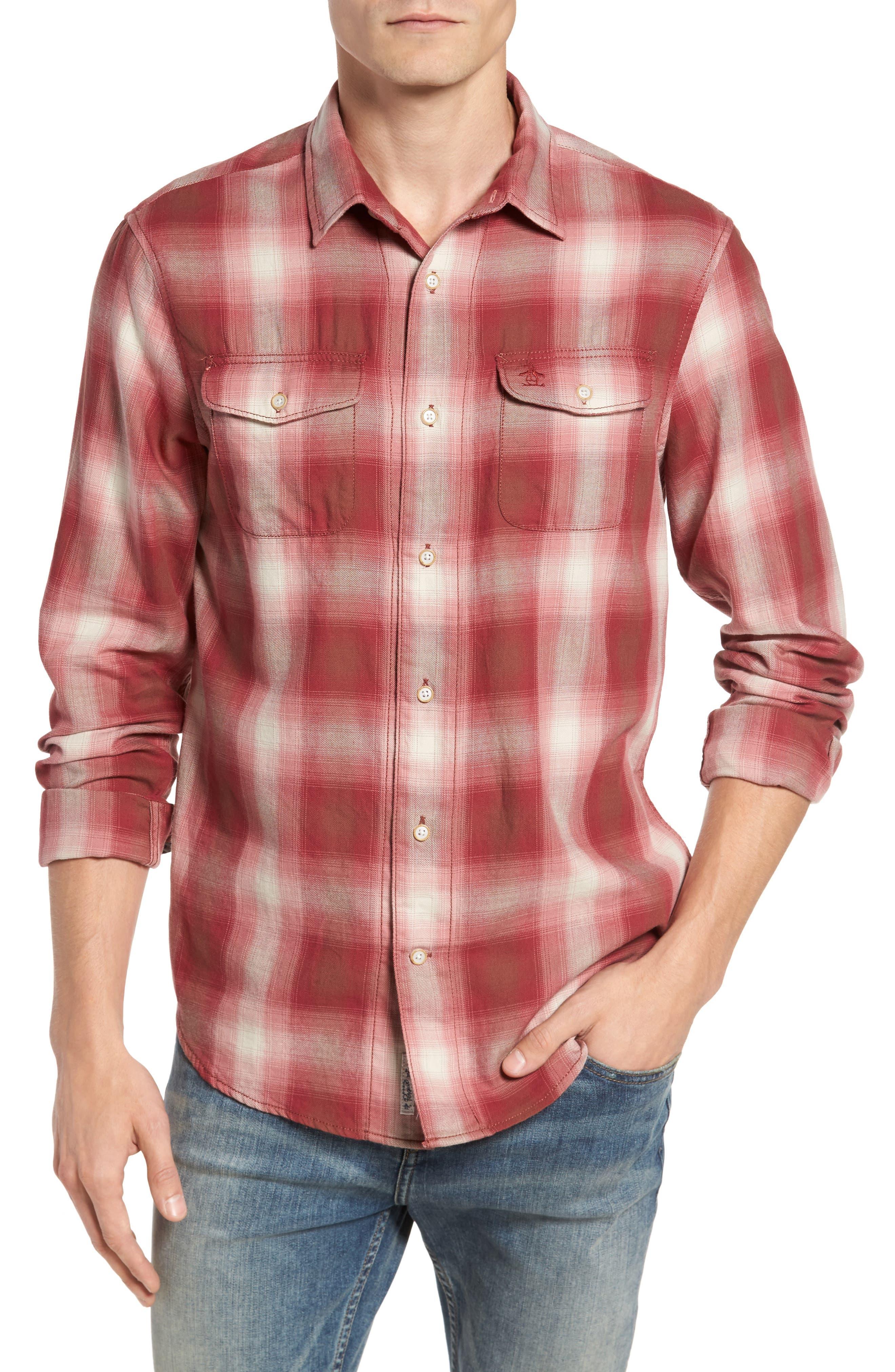90s Plaid Flannel Shirt,                         Main,                         color, 643