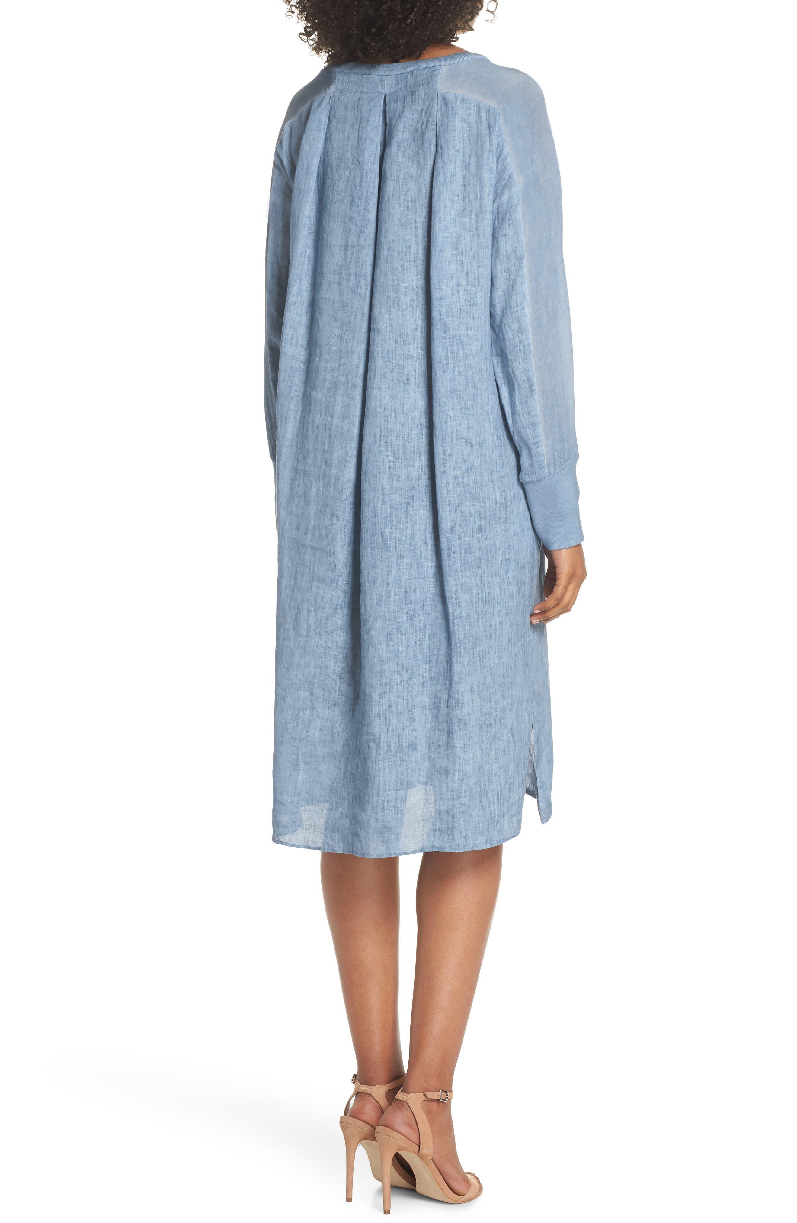 Rata Linen Shift Dress,                             Alternate thumbnail 2, color,                             400