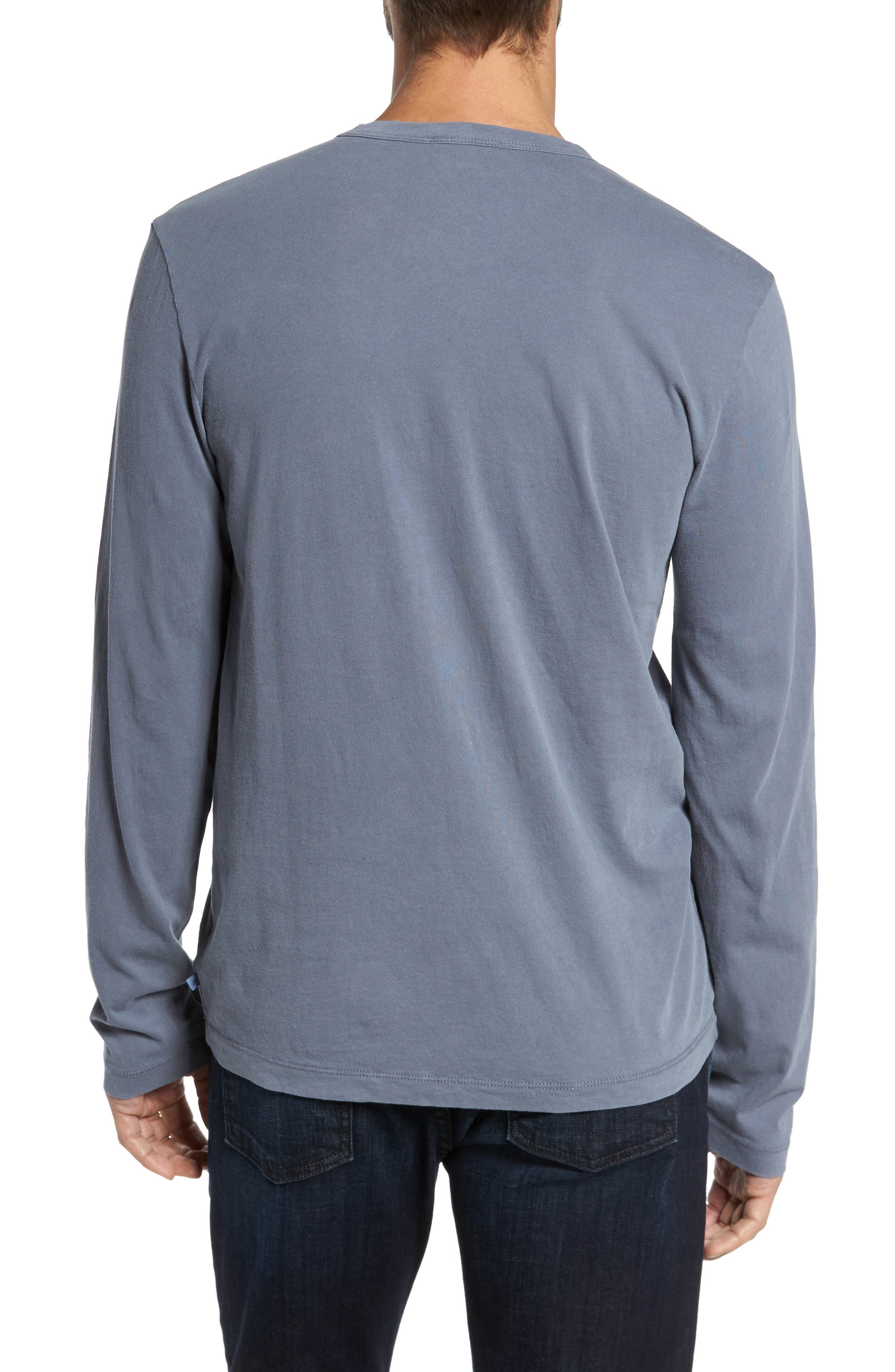 Long Sleeve Crewneck T-Shirt,                             Alternate thumbnail 3, color,                             NORTH PIGMENT GREY