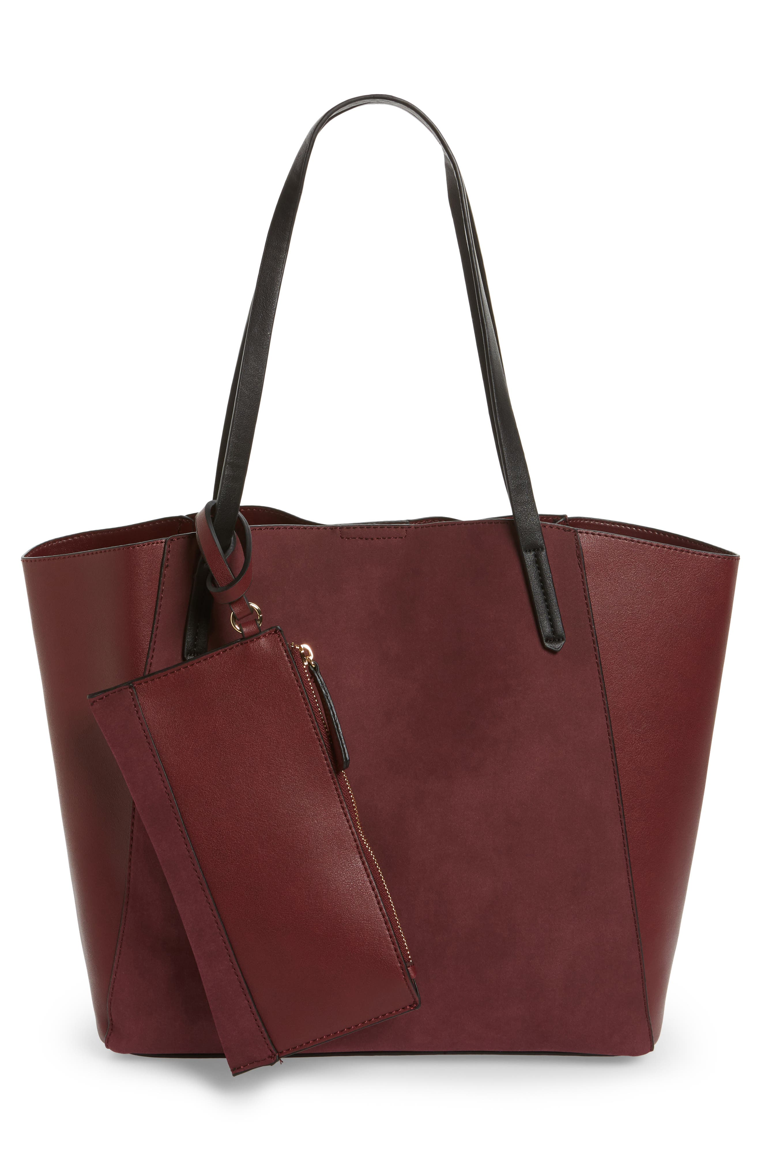 Colorblock Faux Leather Tote,                             Alternate thumbnail 21, color,