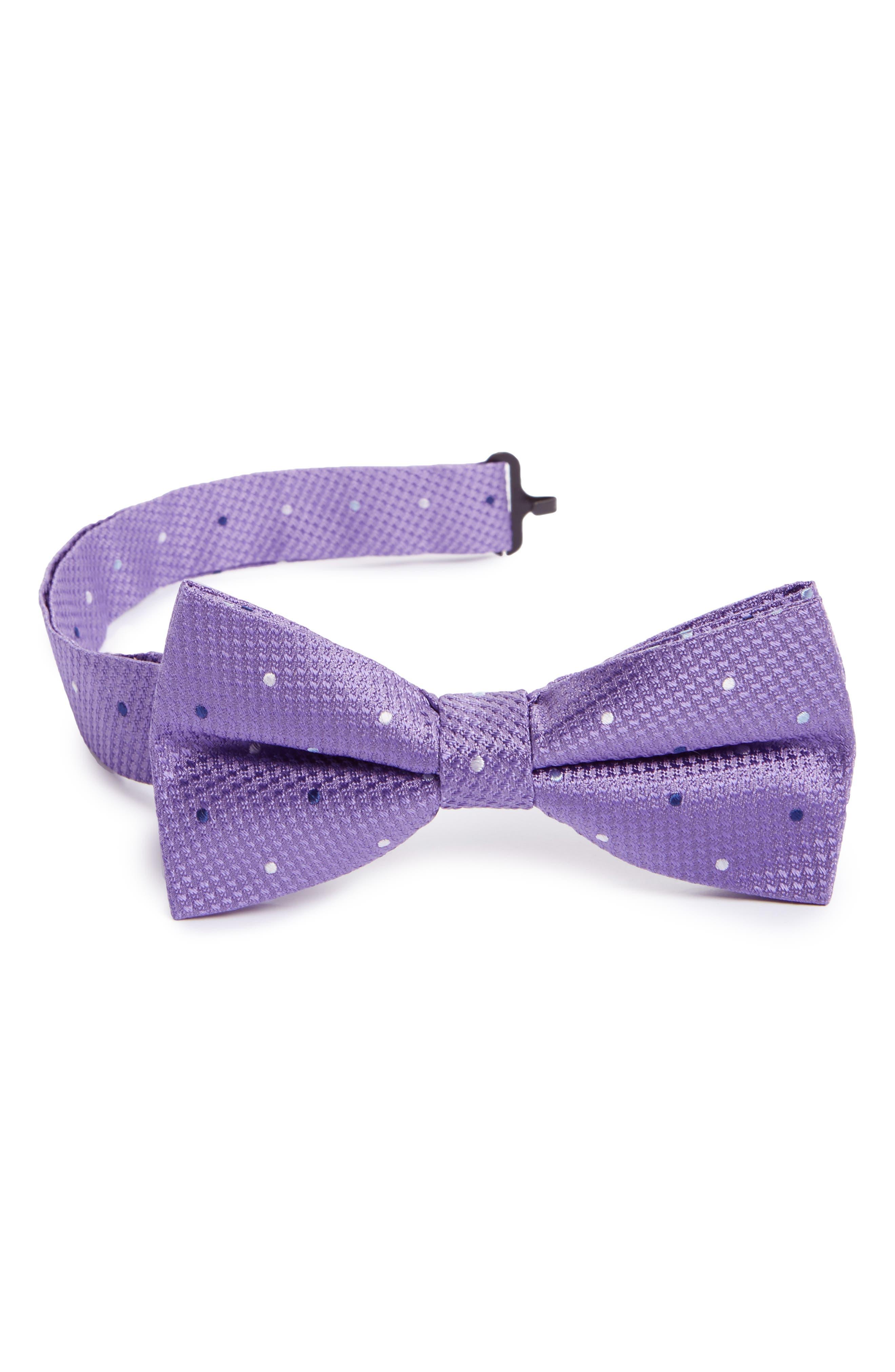 Dot Silk Bow Tie,                             Main thumbnail 2, color,