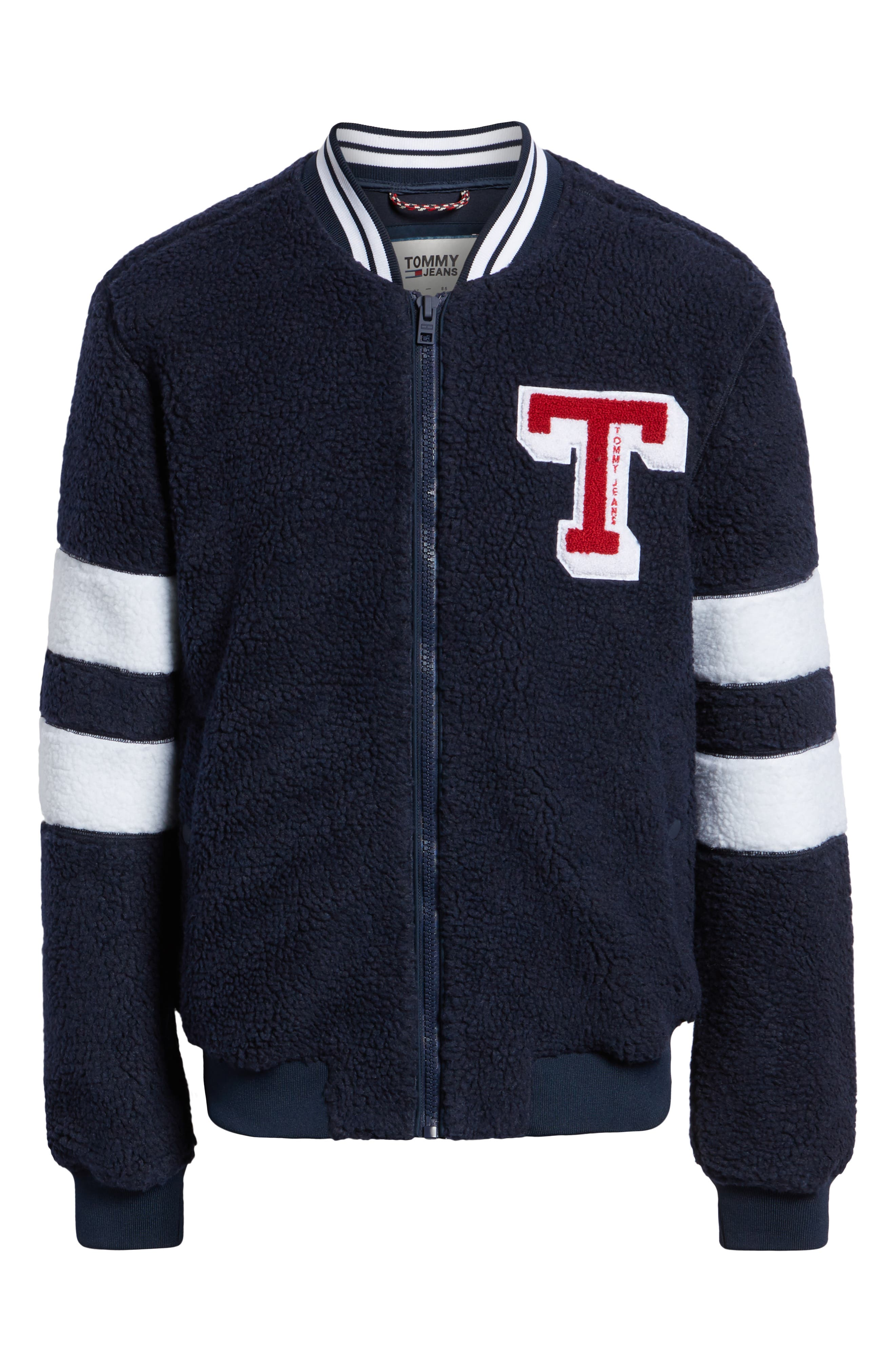 TOMMY JEANS,                             TJM Teddy Bomber Jacket,                             Alternate thumbnail 6, color,                             400