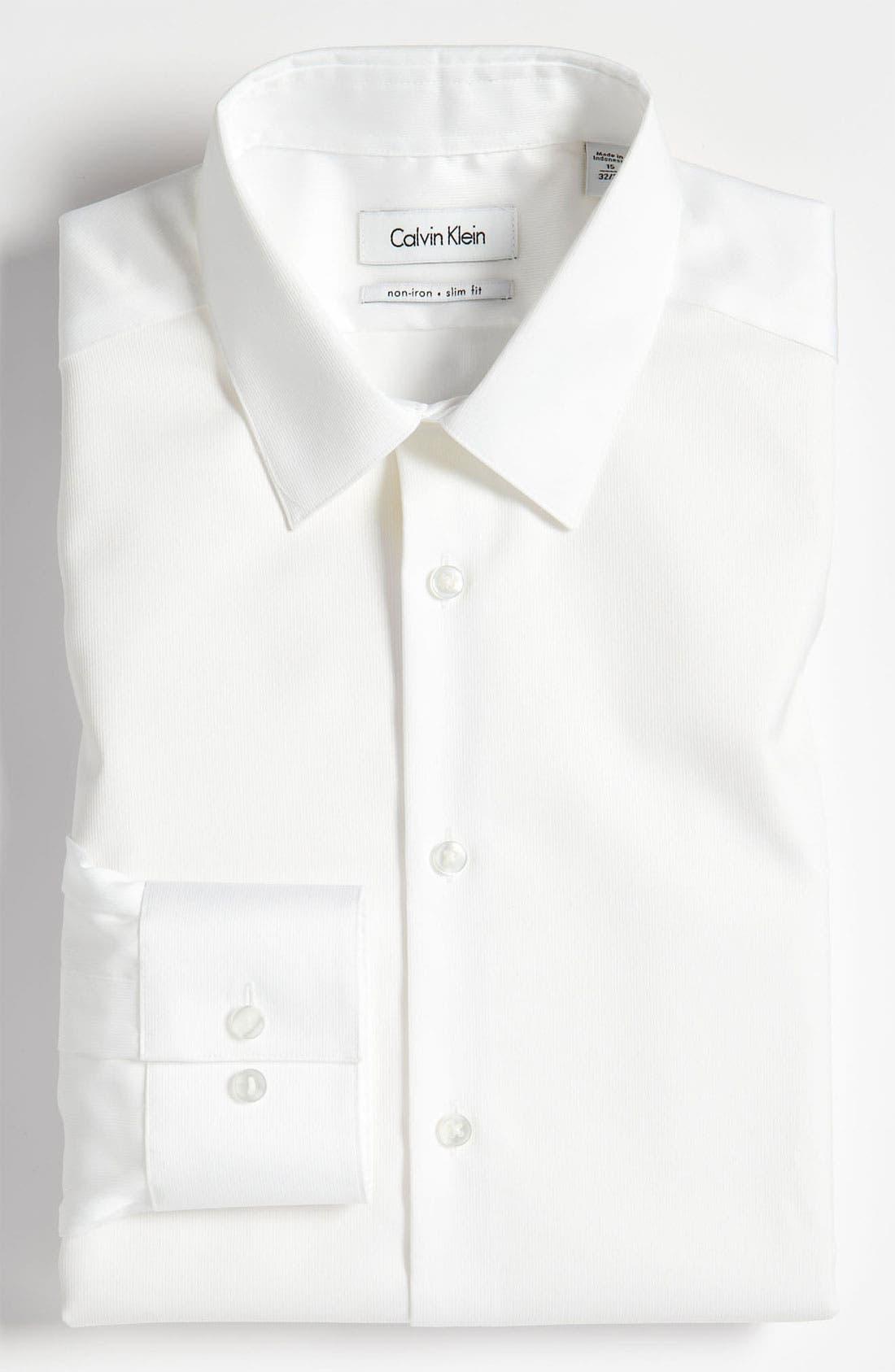 Slim Fit Non-Iron Dress Shirt,                             Main thumbnail 3, color,
