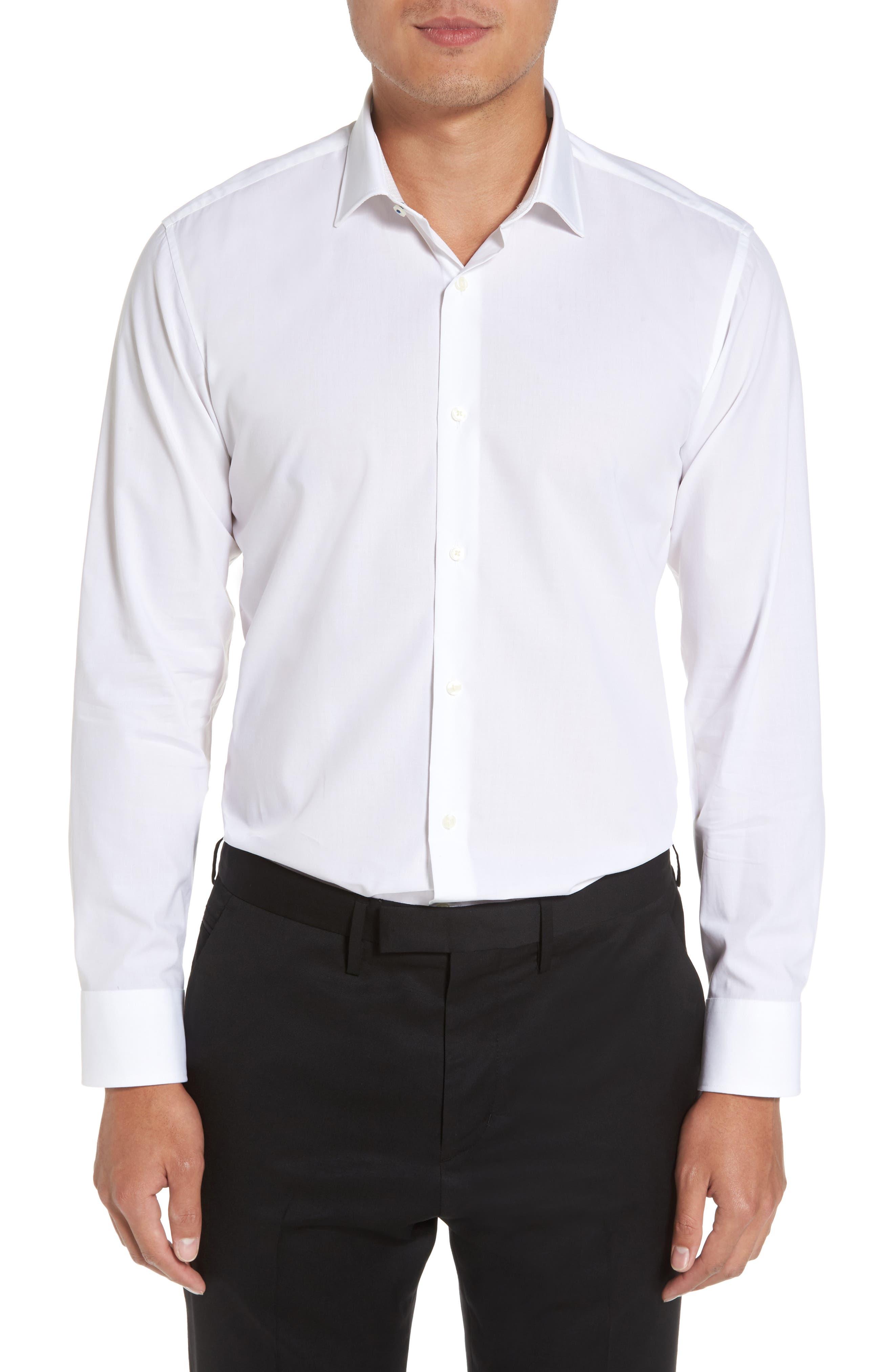 Booker Slim Fit Dress Shirt,                         Main,                         color, 110