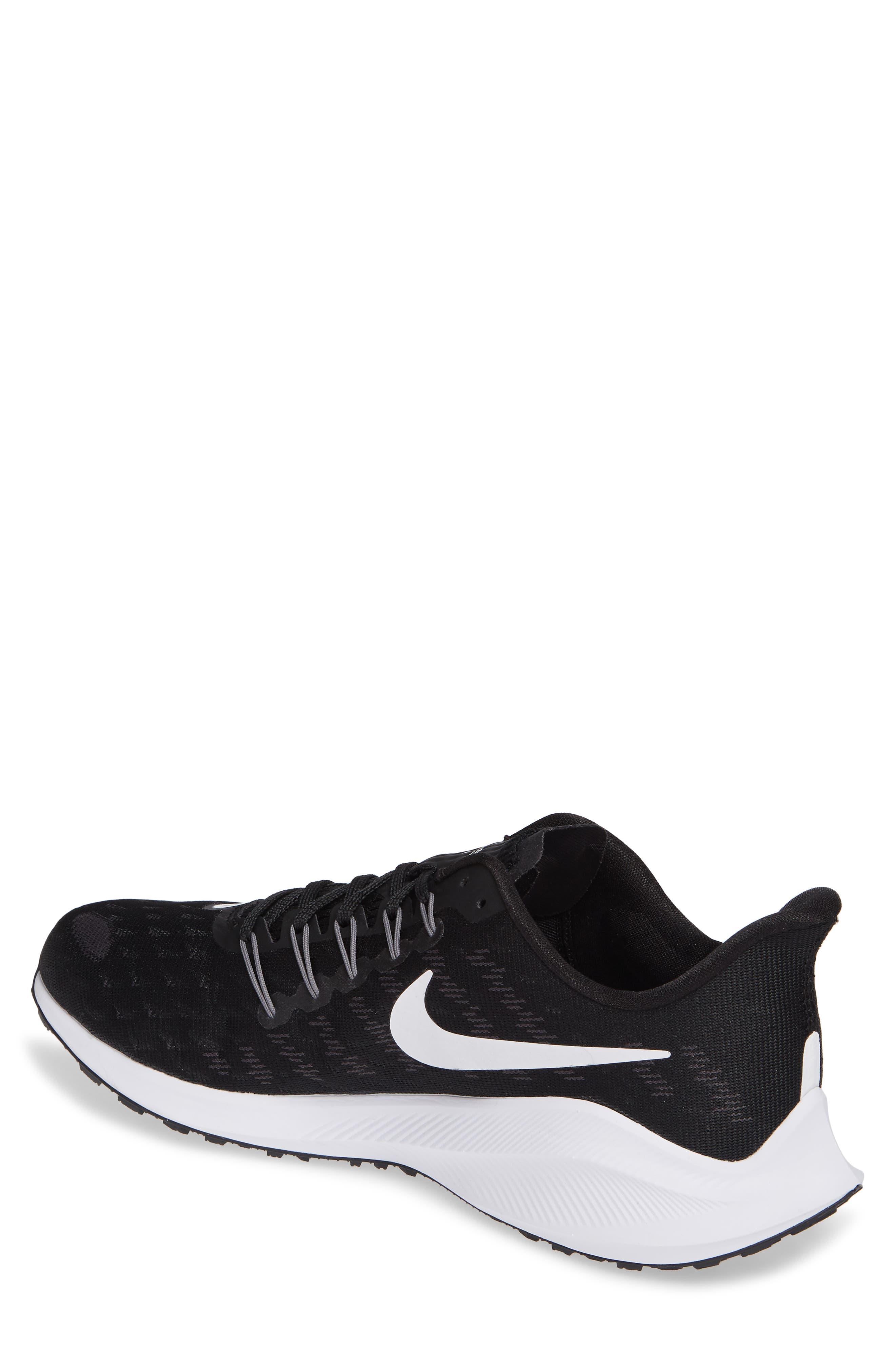 Air Zoom Vomero 14 Running Shoe,                             Alternate thumbnail 2, color,                             BLACK/ WHITE/ THUNDER GREY