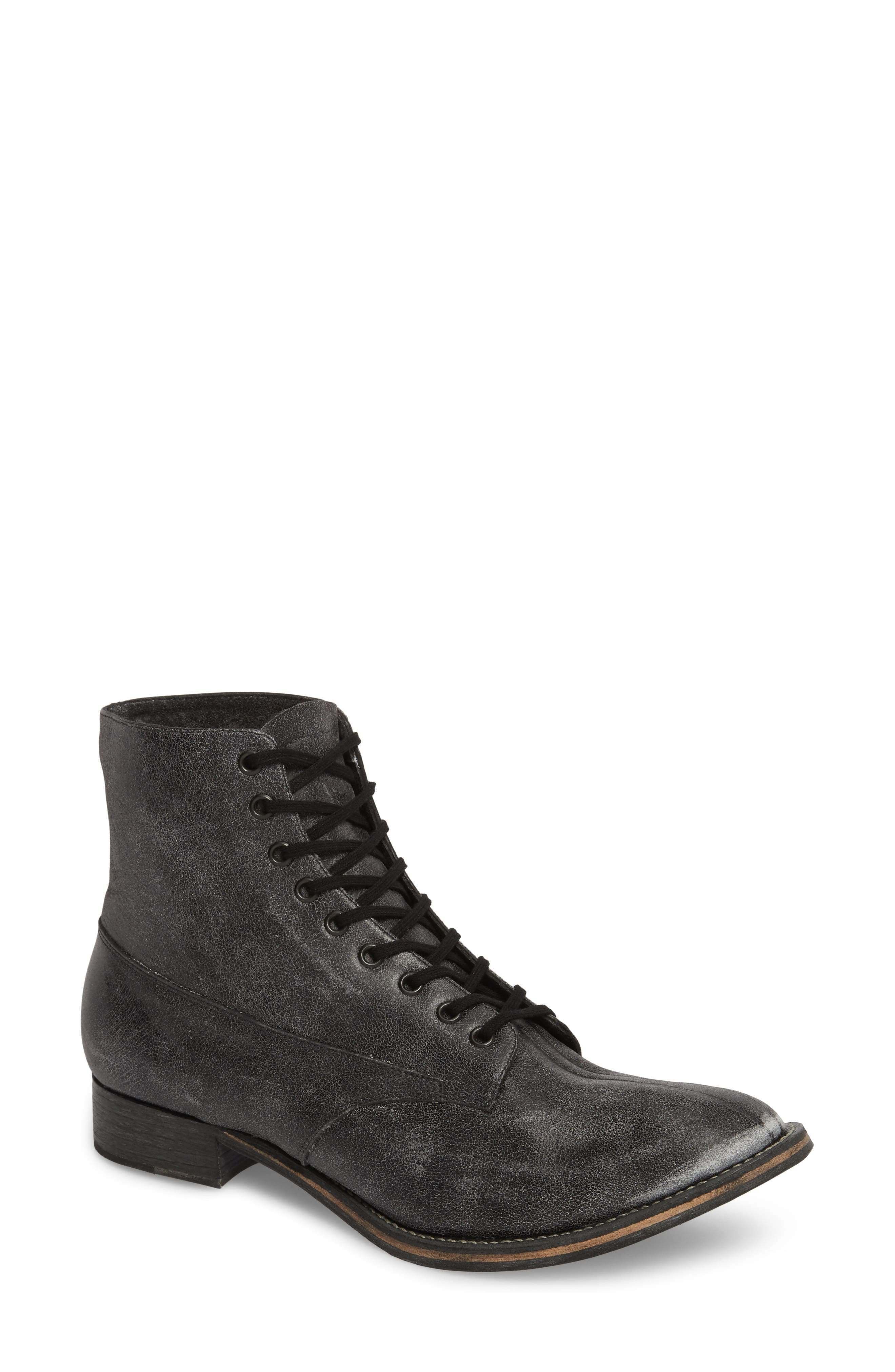 Boxcar Lace-Up Boot,                         Main,                         color, BLACK