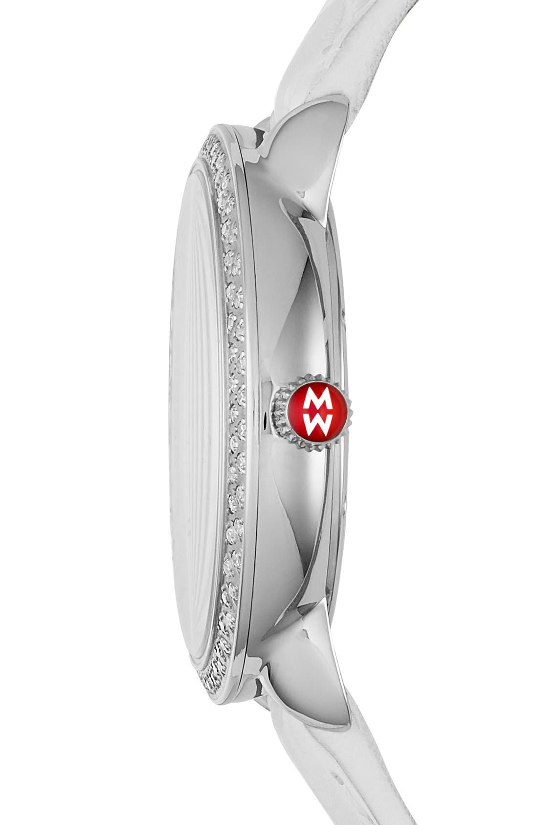 Serein 16 Diamond Diamond Fan Dial Watch Case, 36mm x 34mm,                             Alternate thumbnail 2, color,