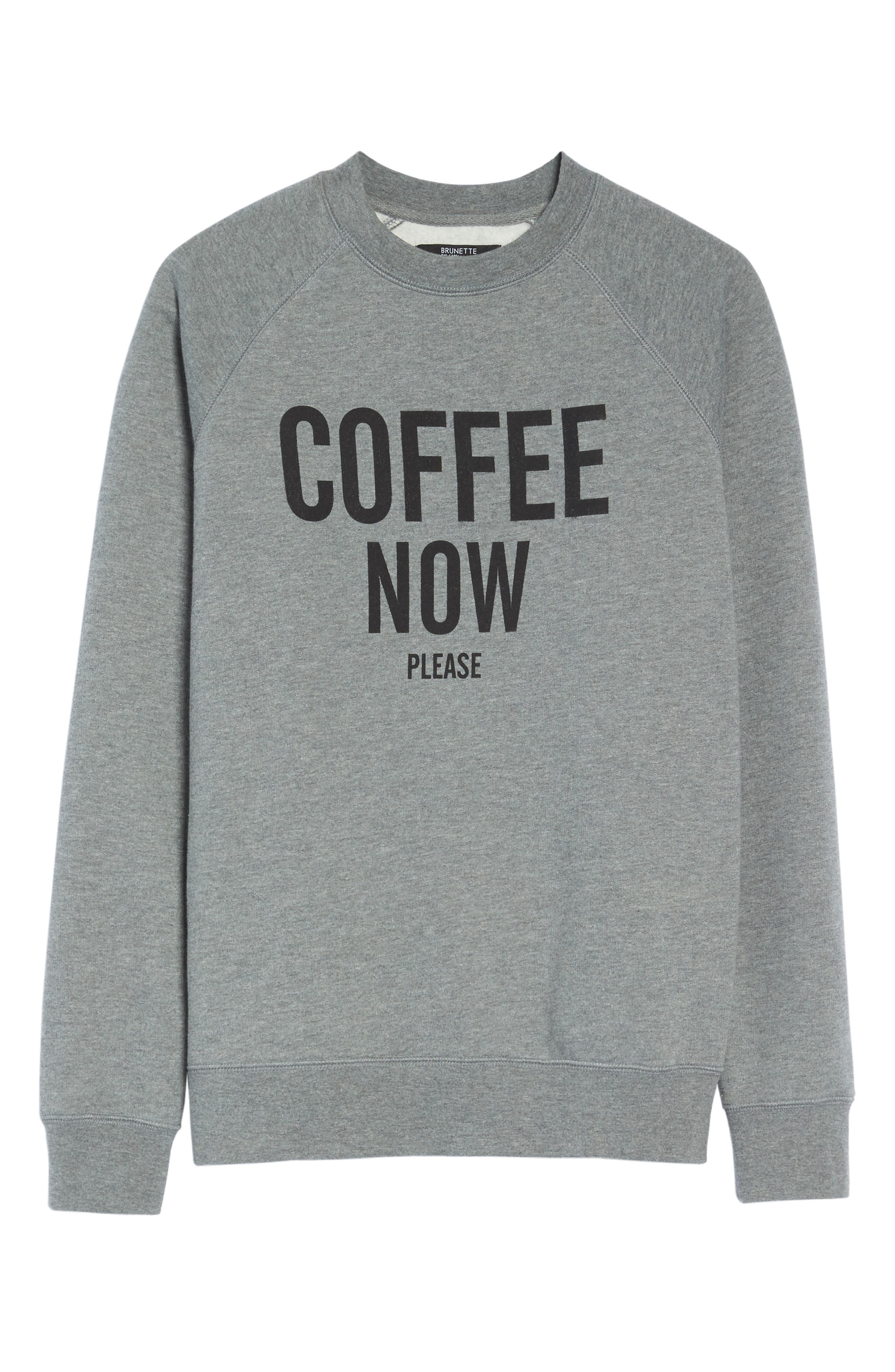 Coffee Now Lounge Sweatshirt,                             Alternate thumbnail 6, color,