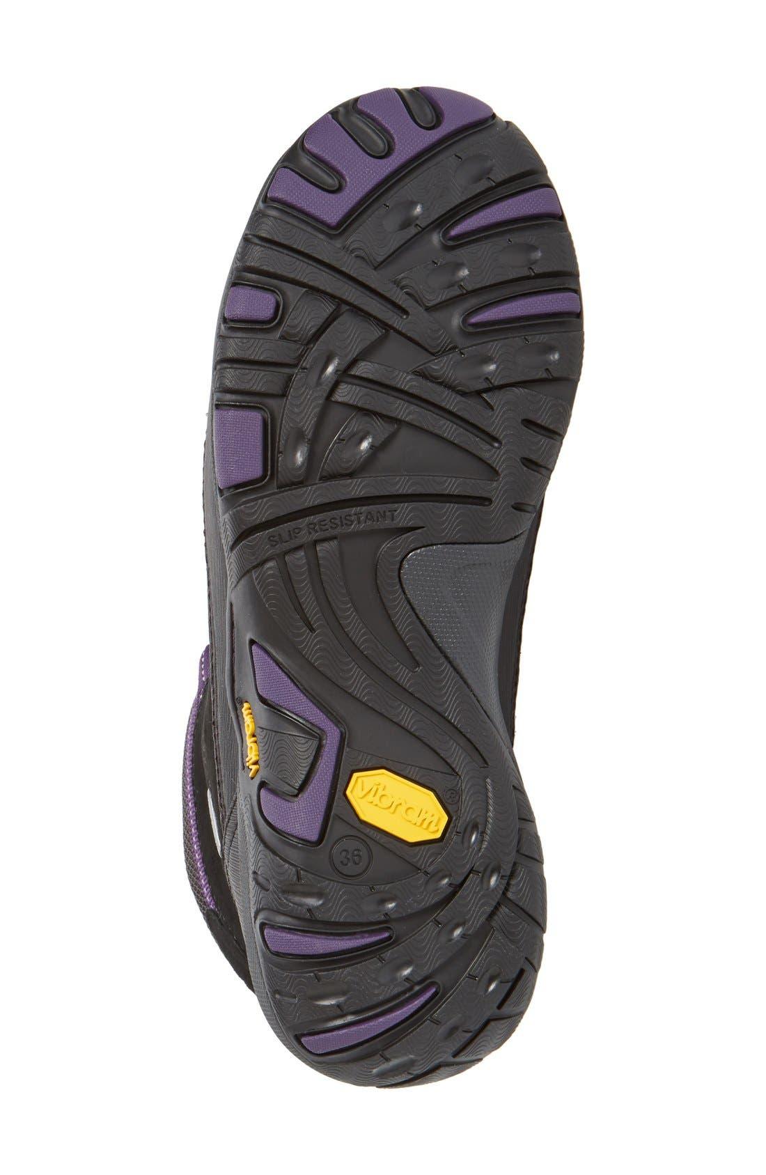 'Paulette' Waterproof Hiking Boot,                             Alternate thumbnail 4, color,                             001