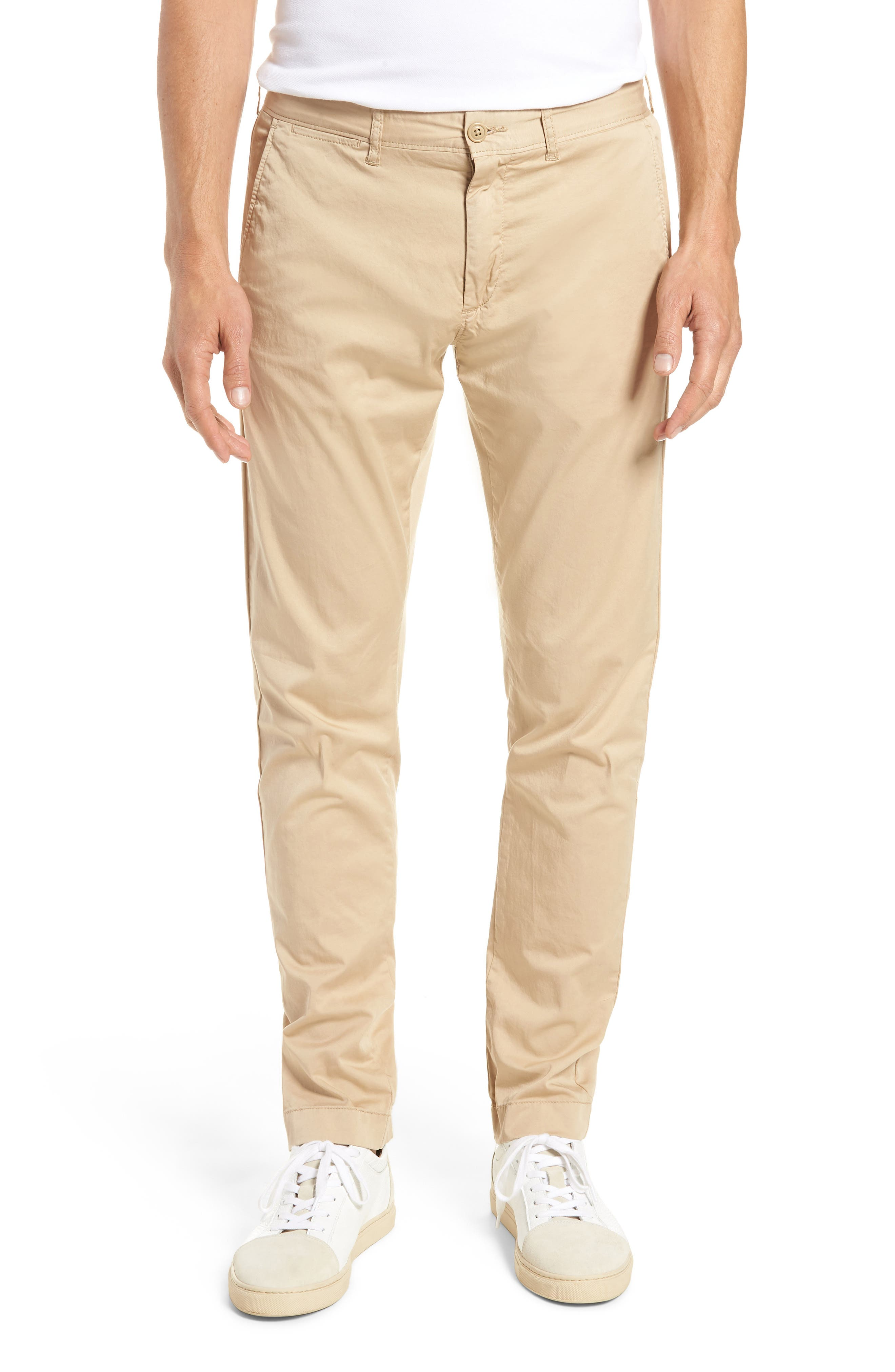 Slim Fit Garment Dyed Stretch Chinos,                             Main thumbnail 2, color,