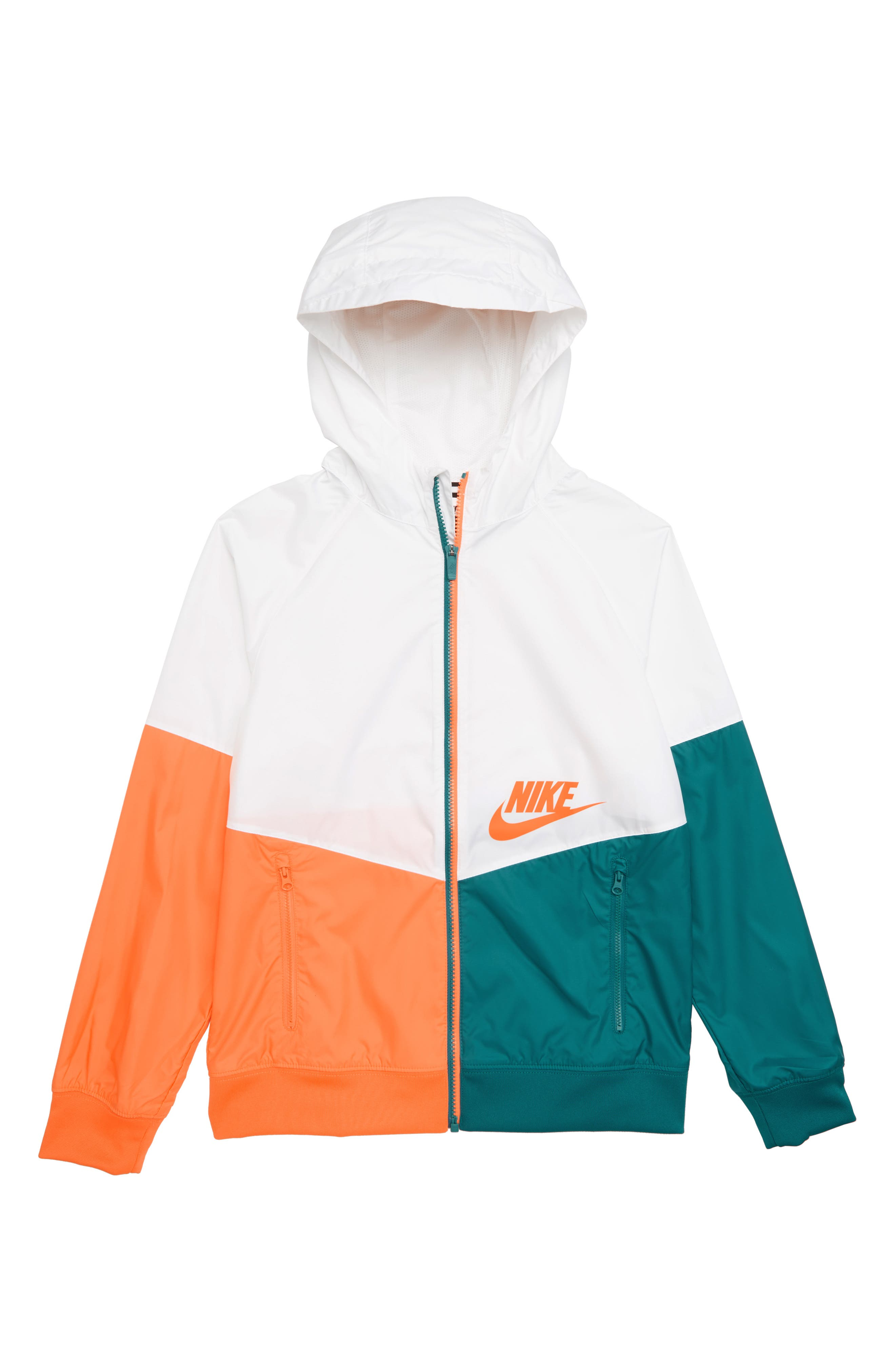 Sportswear Windrunner Hooded Jacket,                         Main,                         color, WHITE/ CONE