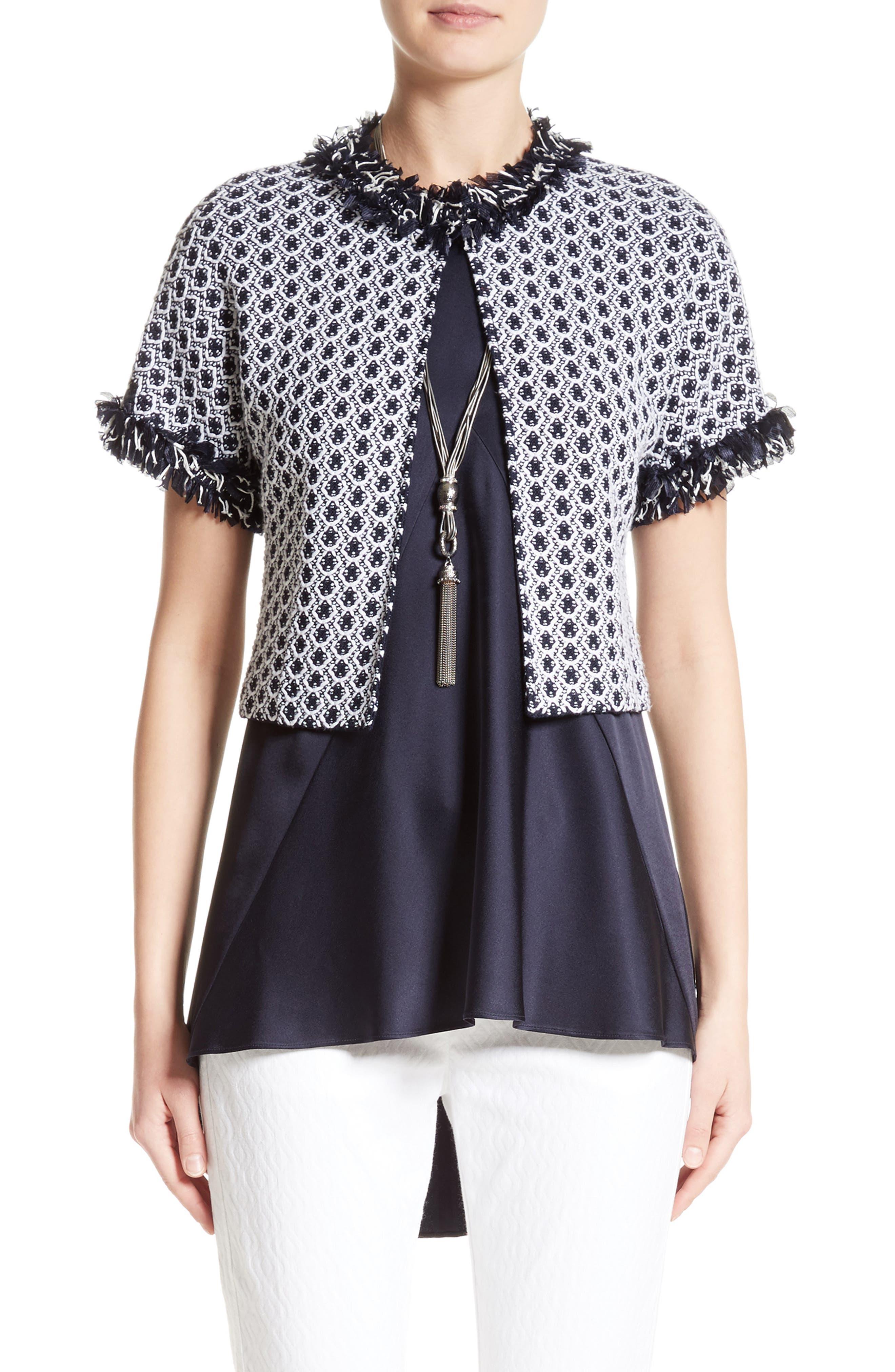 Aadi Tweed Knit Jacket,                             Main thumbnail 1, color,                             400