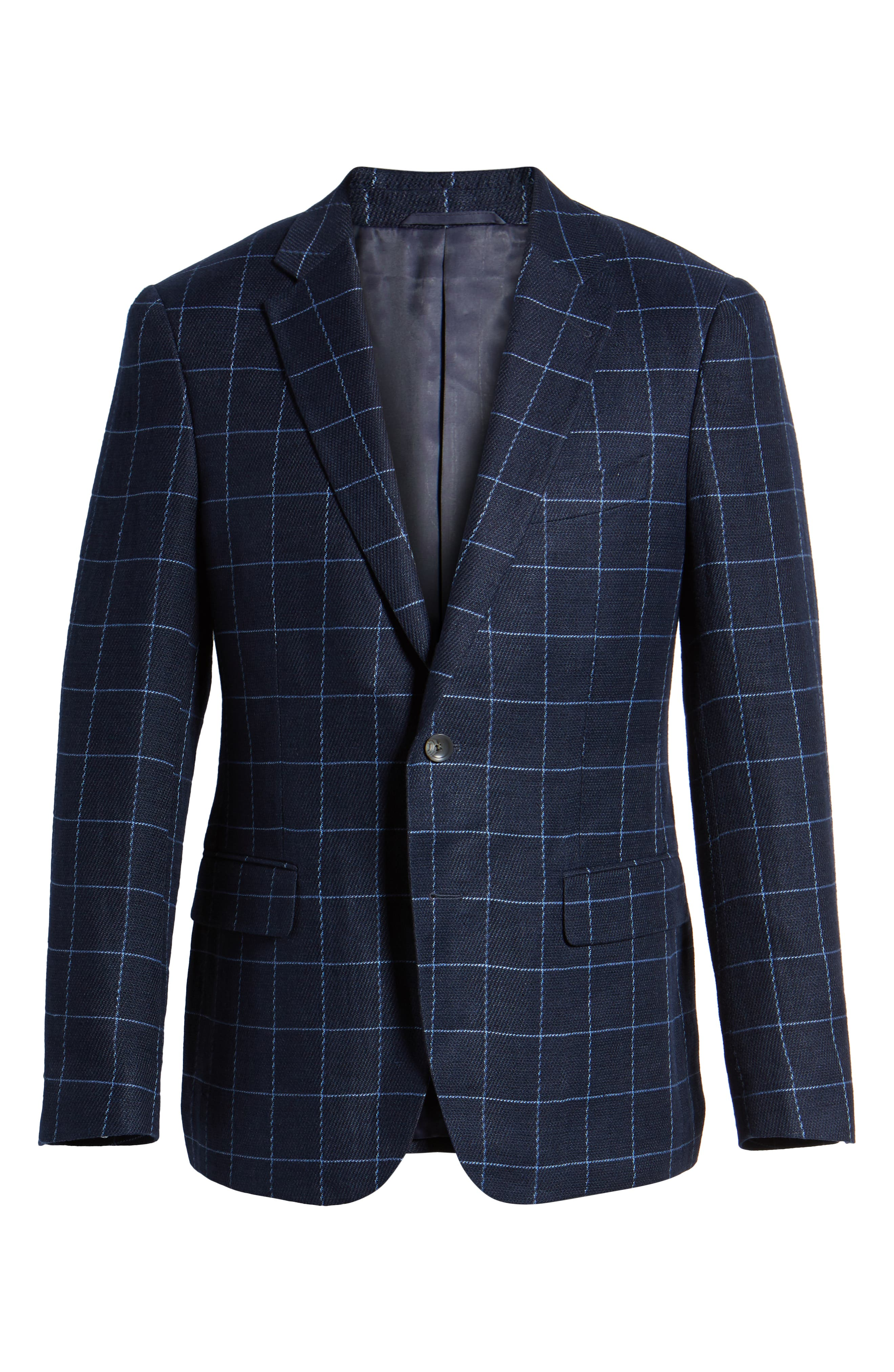 Underwood Regular Fit Sport Coat,                             Alternate thumbnail 5, color,                             NAVY