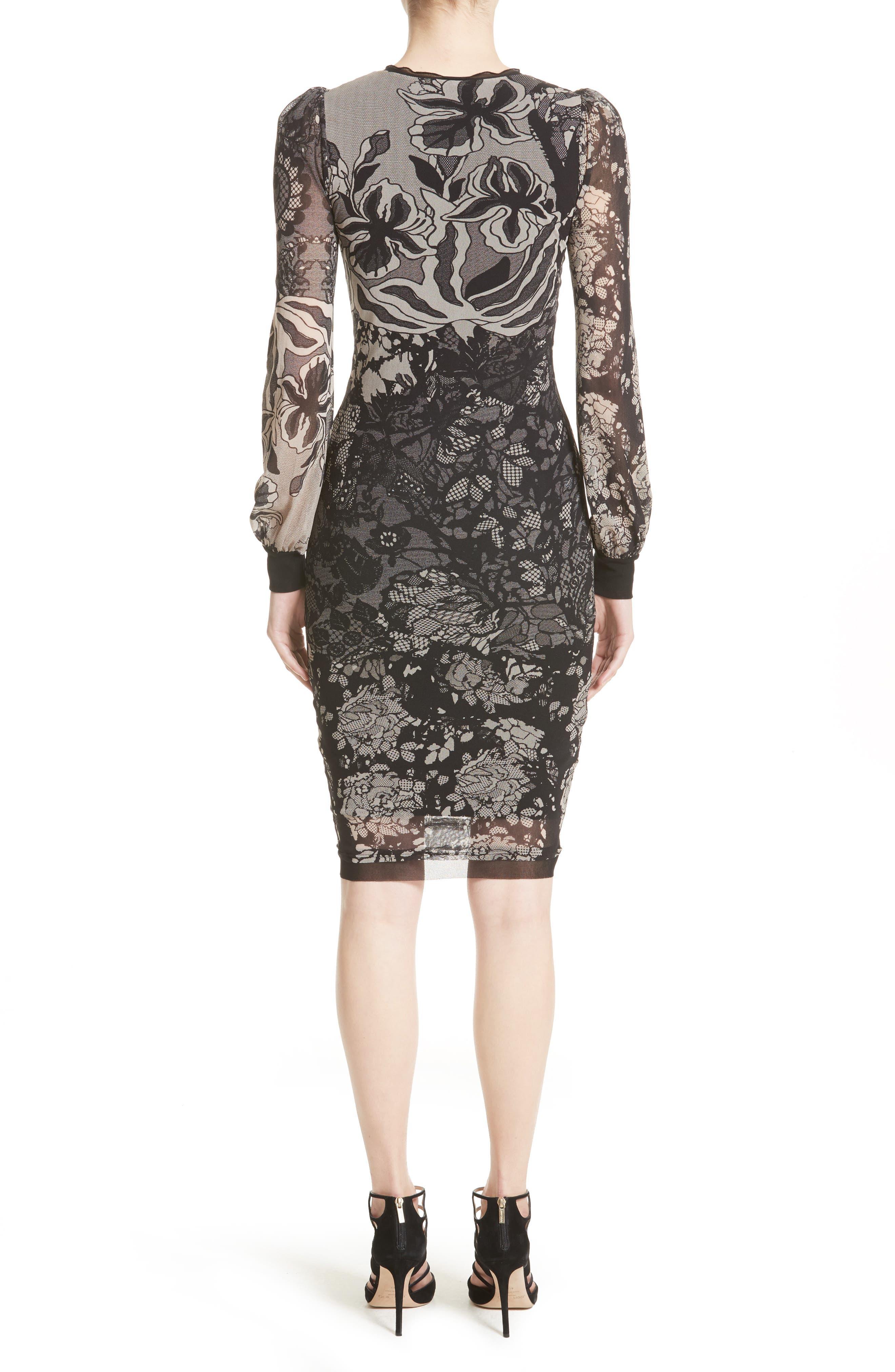 Tulle Sheath Dress,                             Alternate thumbnail 2, color,                             001