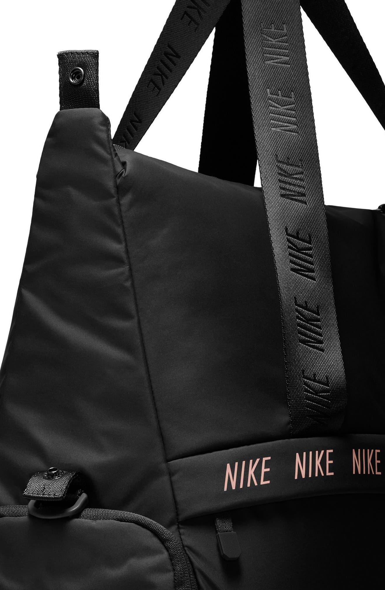 Legend Club Training Duffel Bag,                             Alternate thumbnail 5, color,                             BLACK/ STORM PINK/ BLACK