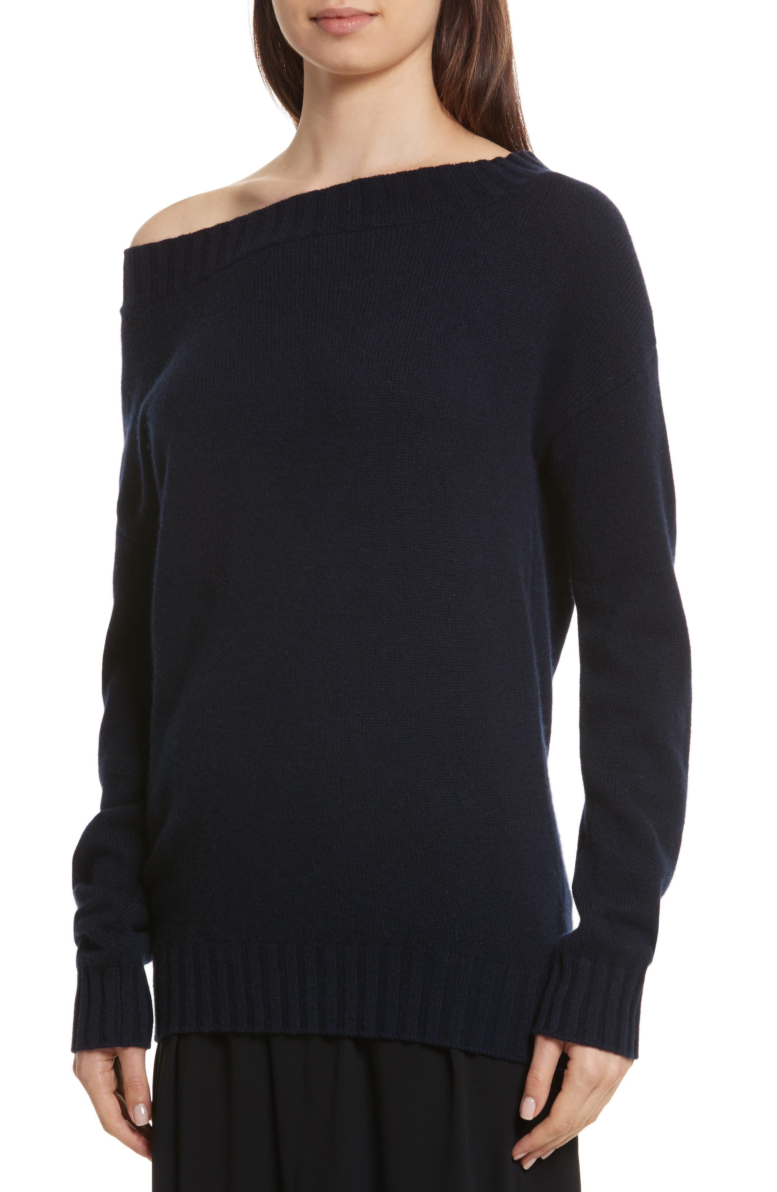 Off the Shoulder Wool & Cashmere Sweater,                             Alternate thumbnail 4, color,                             403