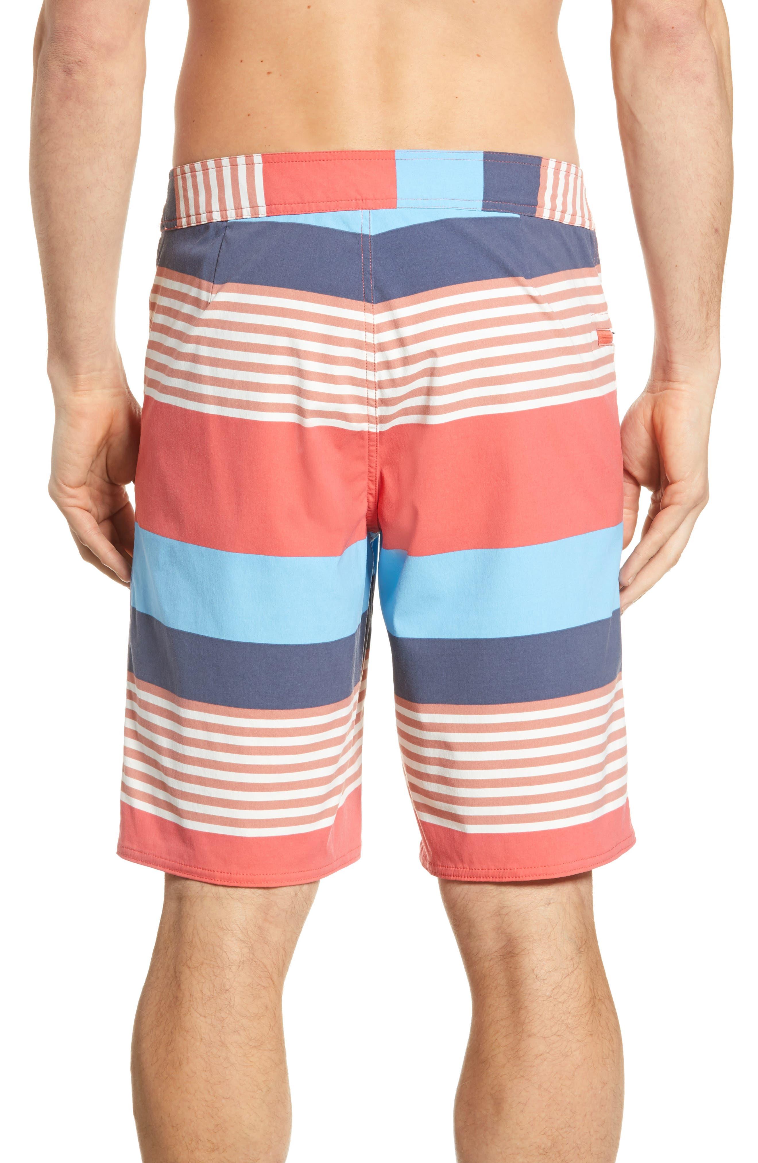 PATAGONIA,                             Wavefarer Board Shorts,                             Alternate thumbnail 2, color,                             FITZ STRIPE: SPICED CORAL