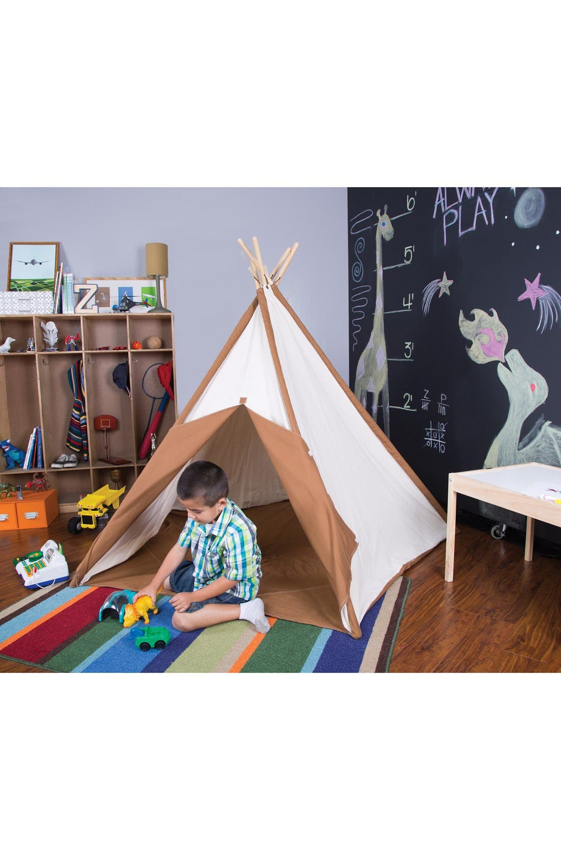 PACIFIC PLAY TENTS,                             Cotton Canvas Teepee,                             Alternate thumbnail 4, color,                             250