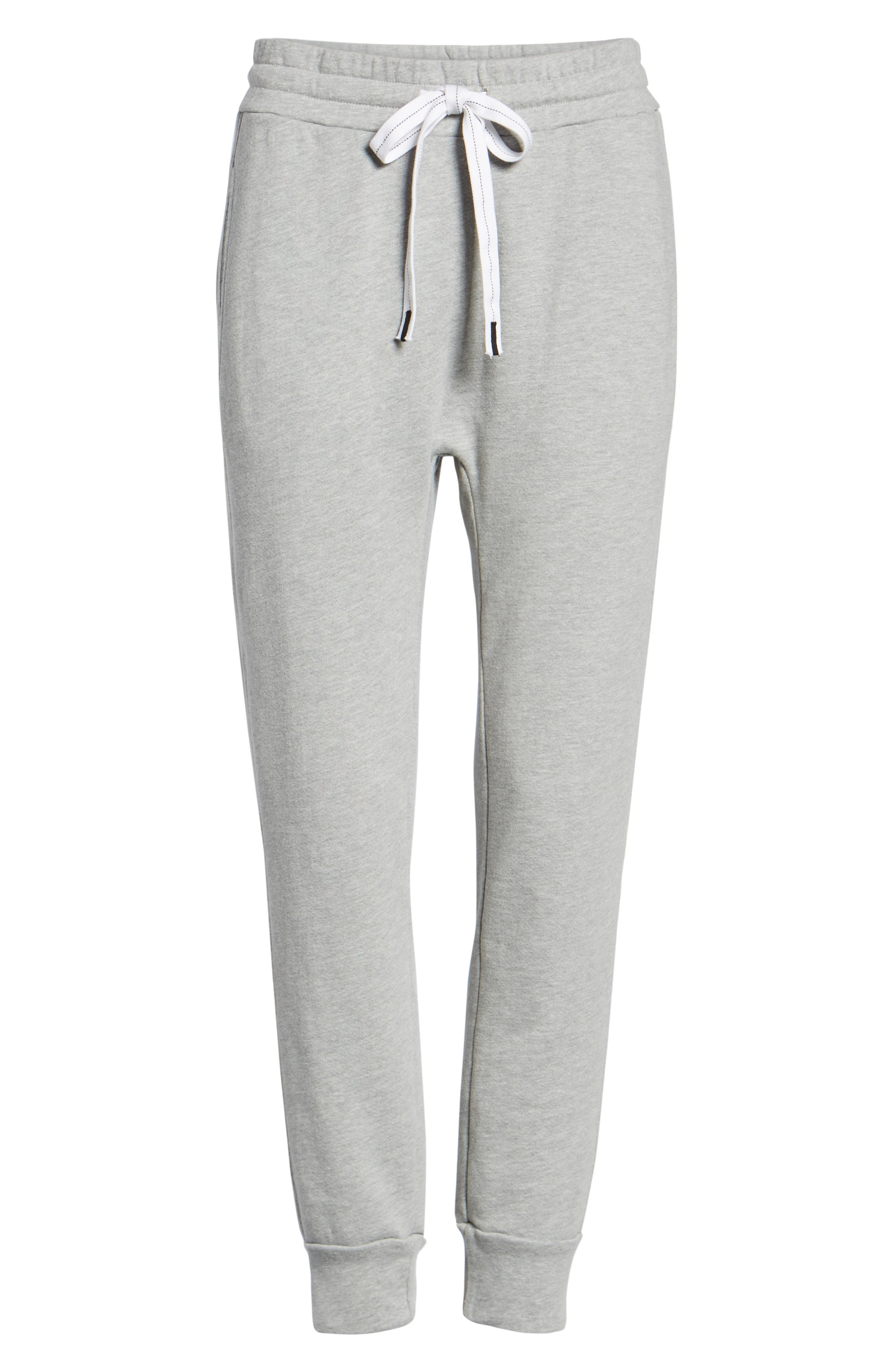 French Terry Joggers,                             Alternate thumbnail 7, color,                             HEATHER GREY