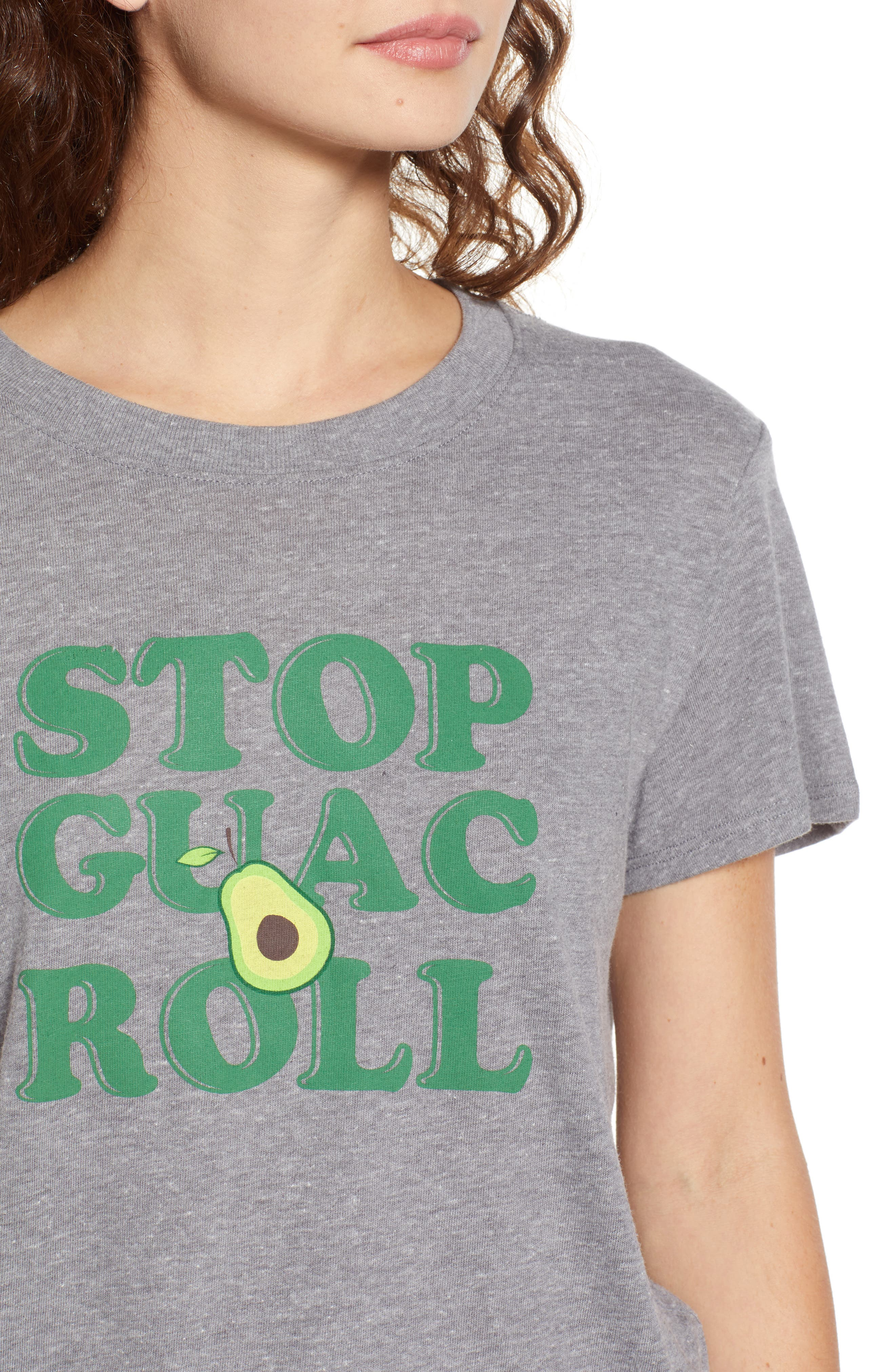 Stop, Guac & Roll Slouched Tee,                             Alternate thumbnail 4, color,                             050
