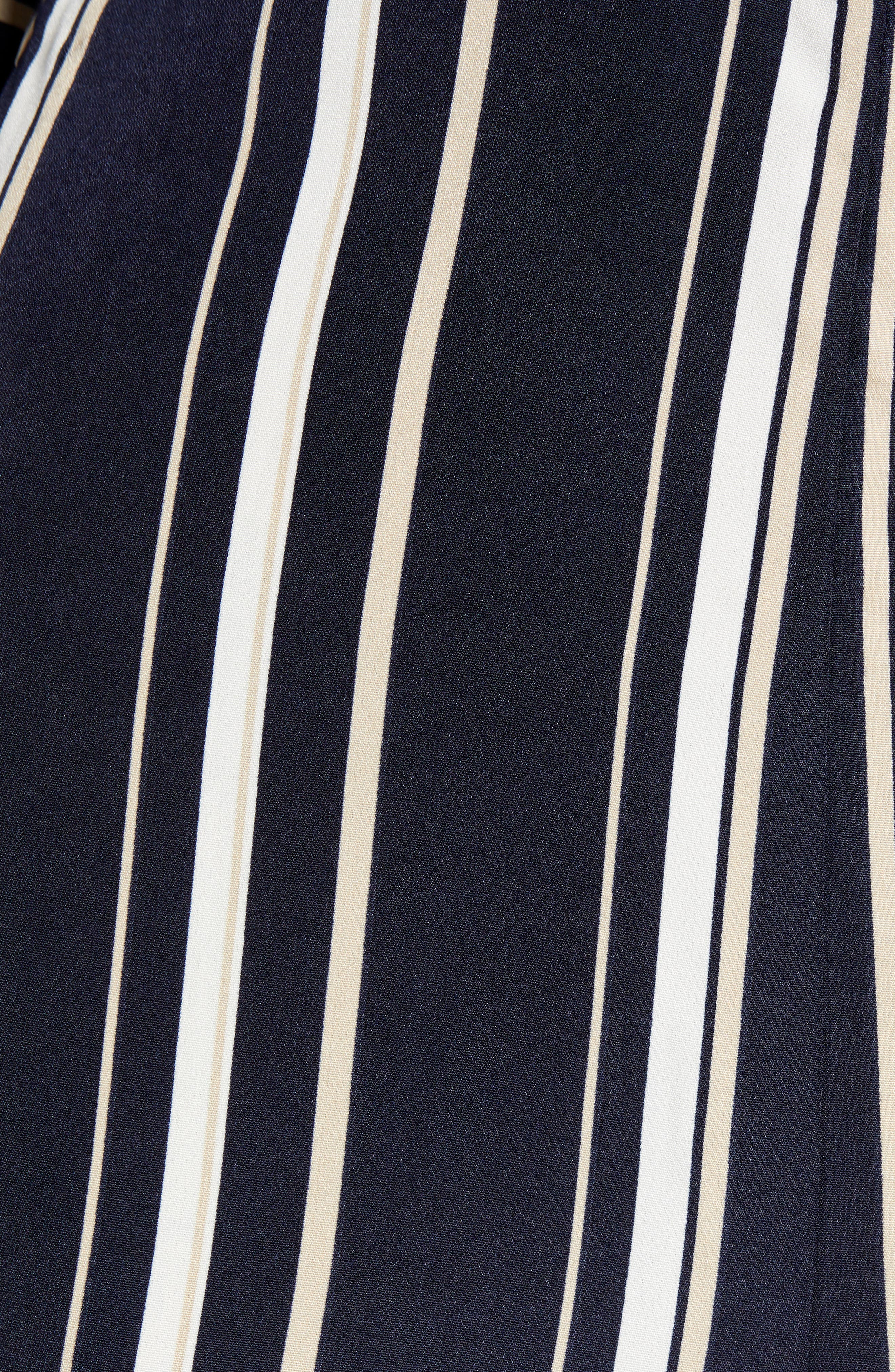 Crossover Stripe Jumpsuit,                             Alternate thumbnail 6, color,                             400