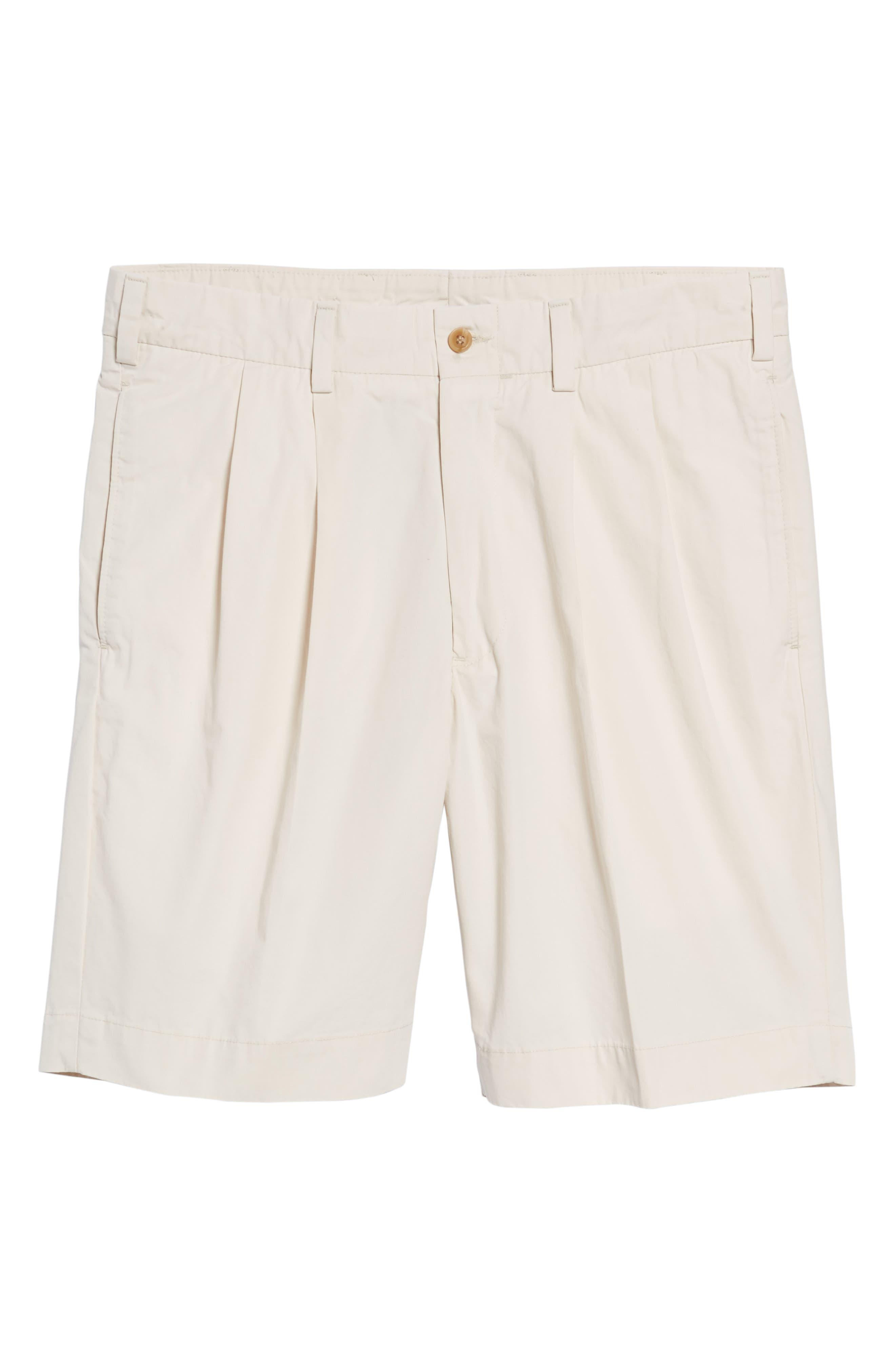 M2 Classic Fit Pleated Tropical Cotton Poplin Shorts,                             Alternate thumbnail 6, color,                             280