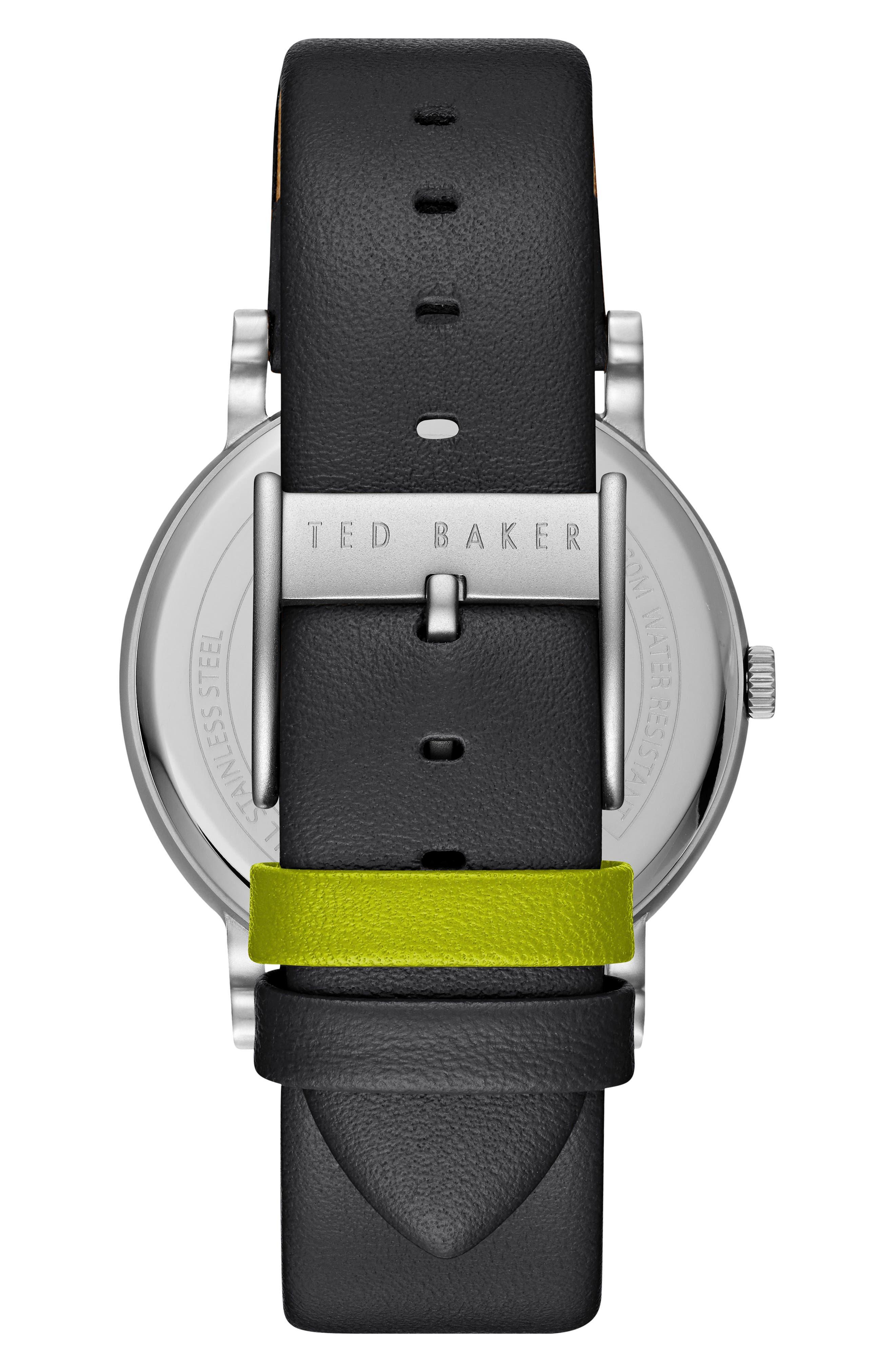 Nolan Subeye Leather Strap Watch, 42mm,                             Alternate thumbnail 2, color,                             021
