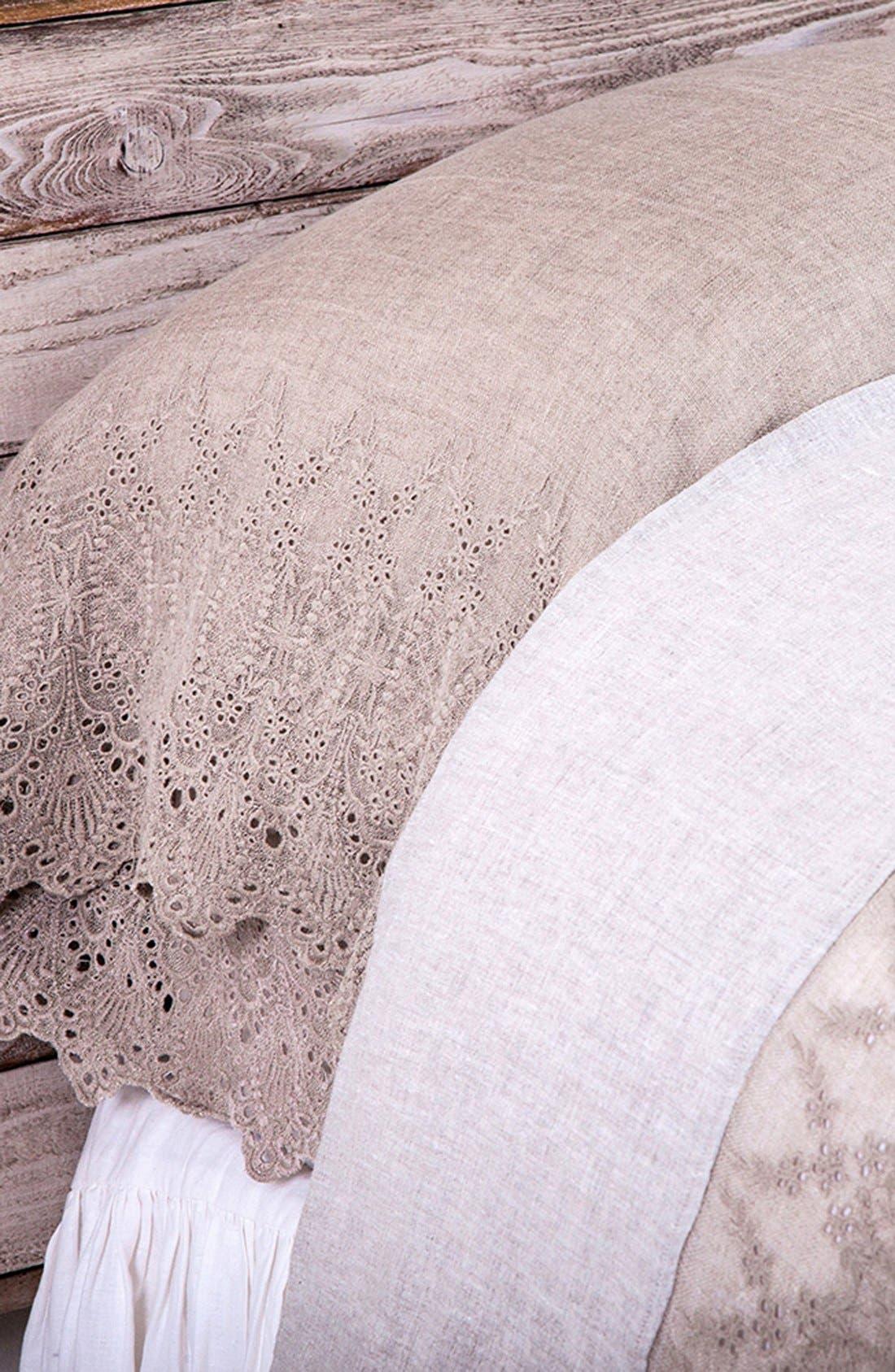 'Annabelle' Linen Flat Sheet,                             Alternate thumbnail 4, color,                             281