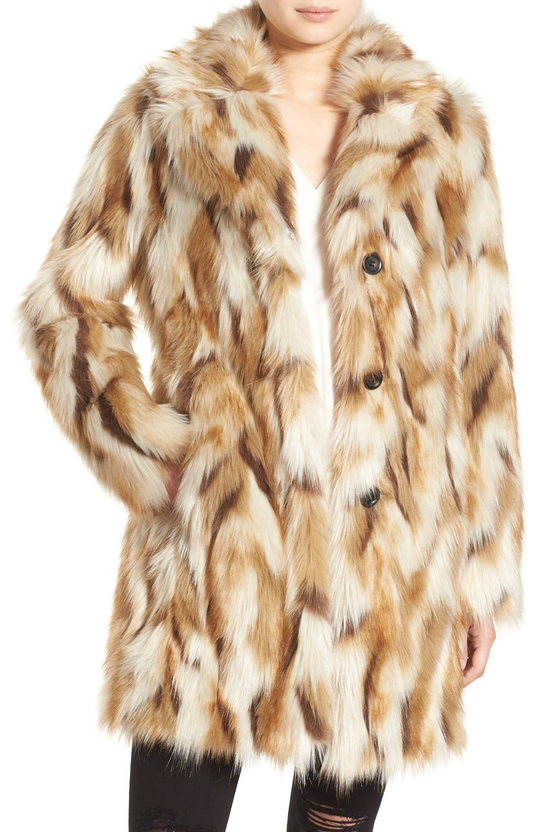 7 for All Mankind Faux Fur Coat,                             Main thumbnail 1, color,                             250
