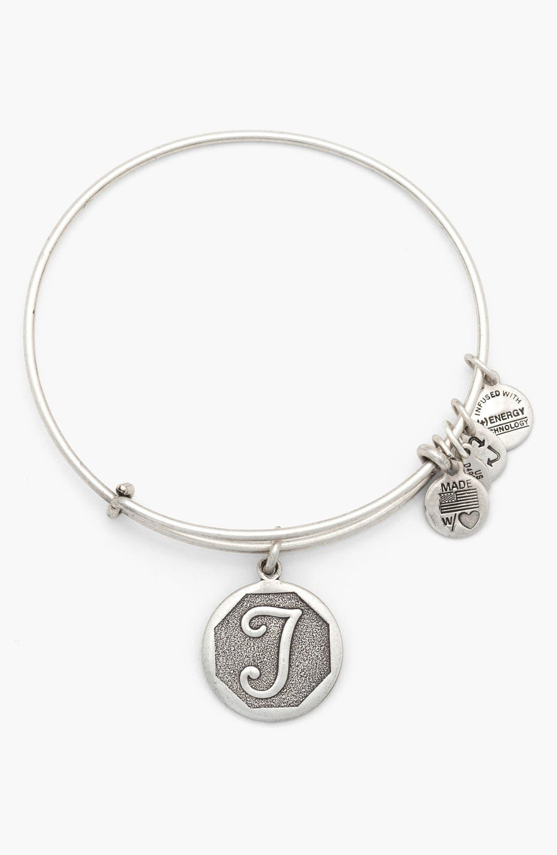 'Initial' Adjustable Wire Bangle,                             Main thumbnail 20, color,