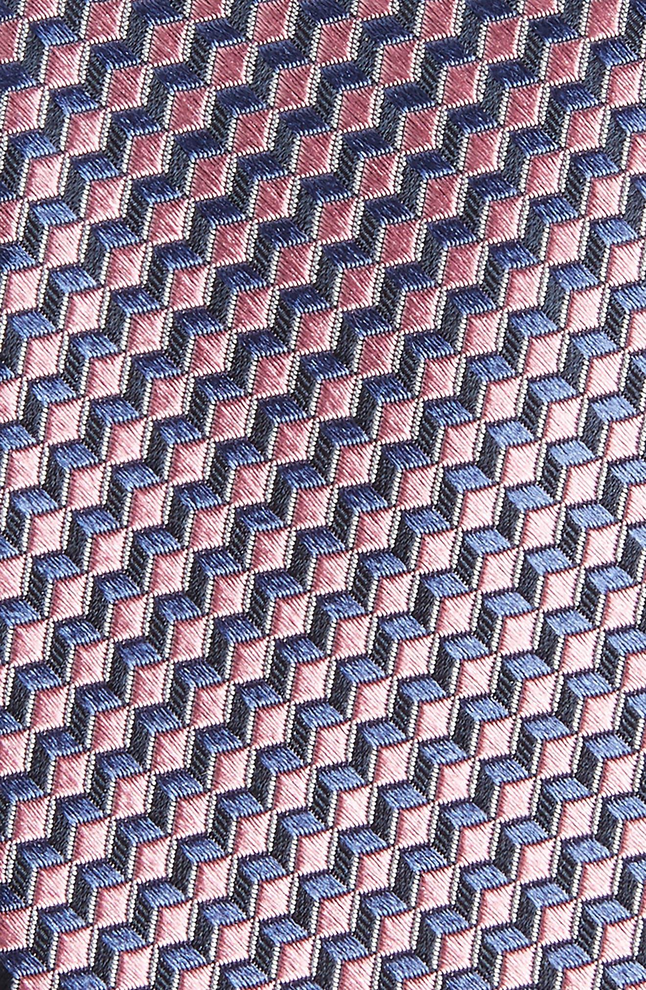 Doria Geometric Silk Tie,                             Alternate thumbnail 8, color,