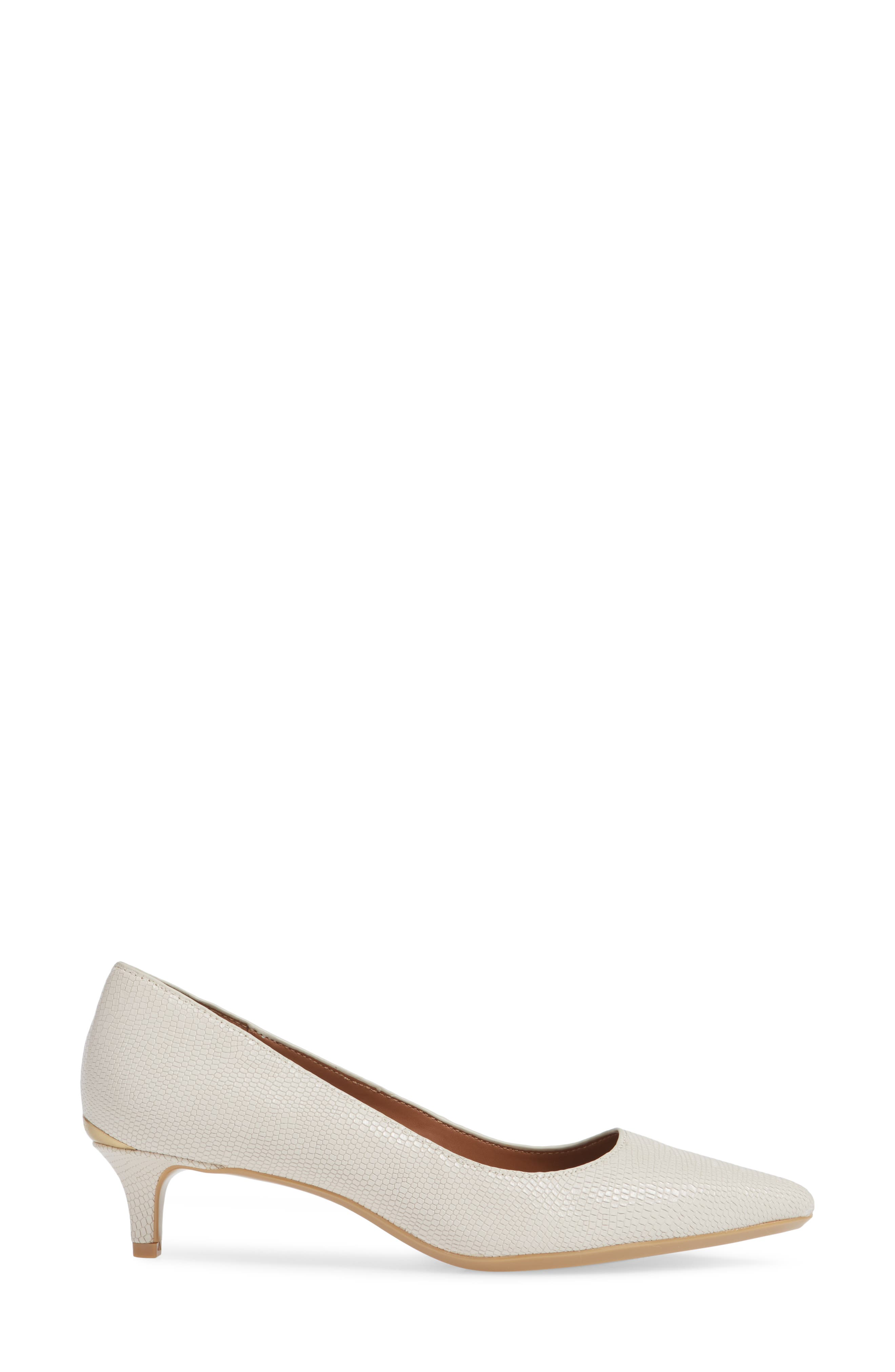 Gabrianna Pump,                             Alternate thumbnail 3, color,                             SOFT WHITE LEATHER
