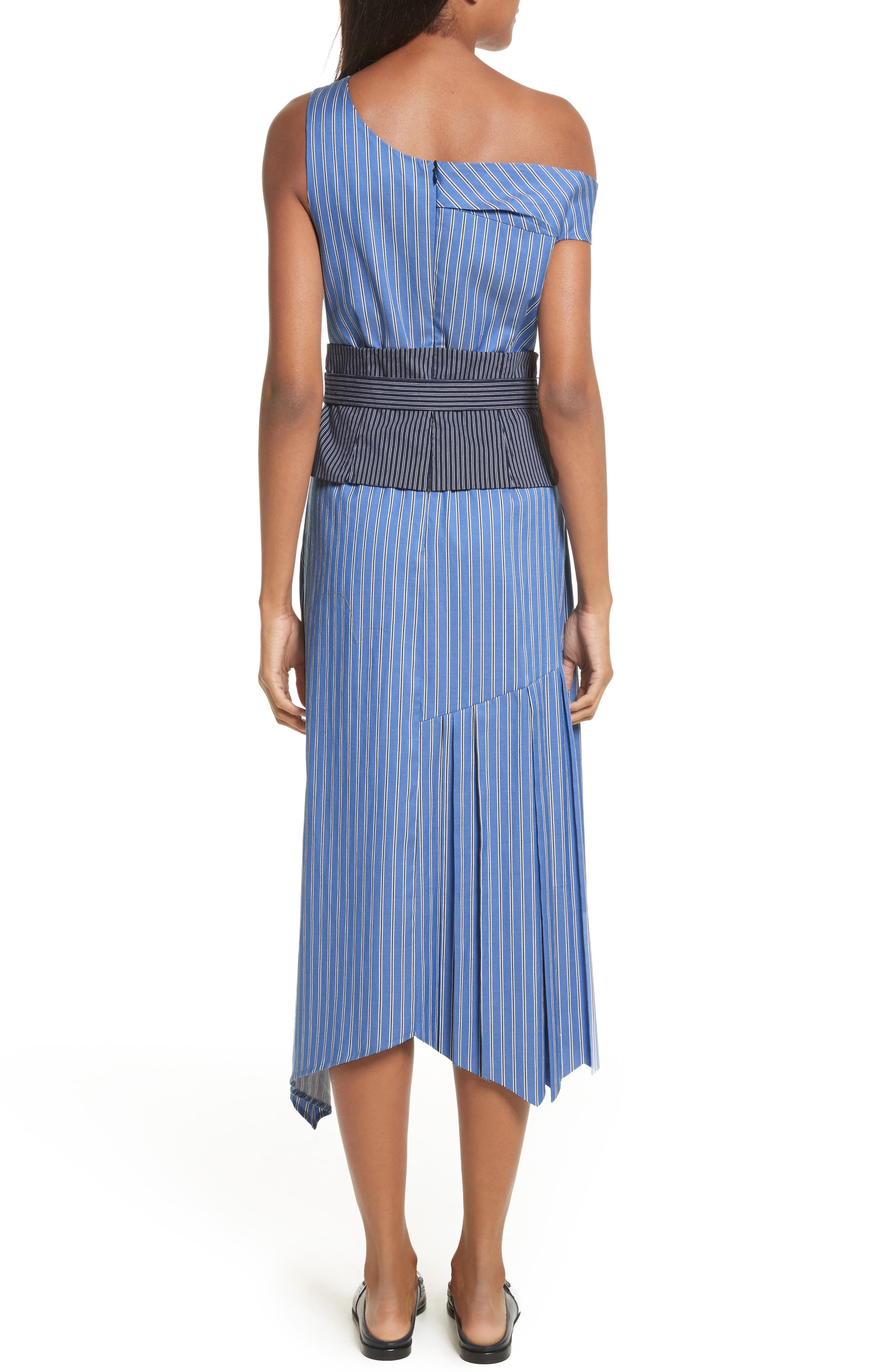 Belted Asymmetrical Midi Dress,                             Alternate thumbnail 2, color,                             402