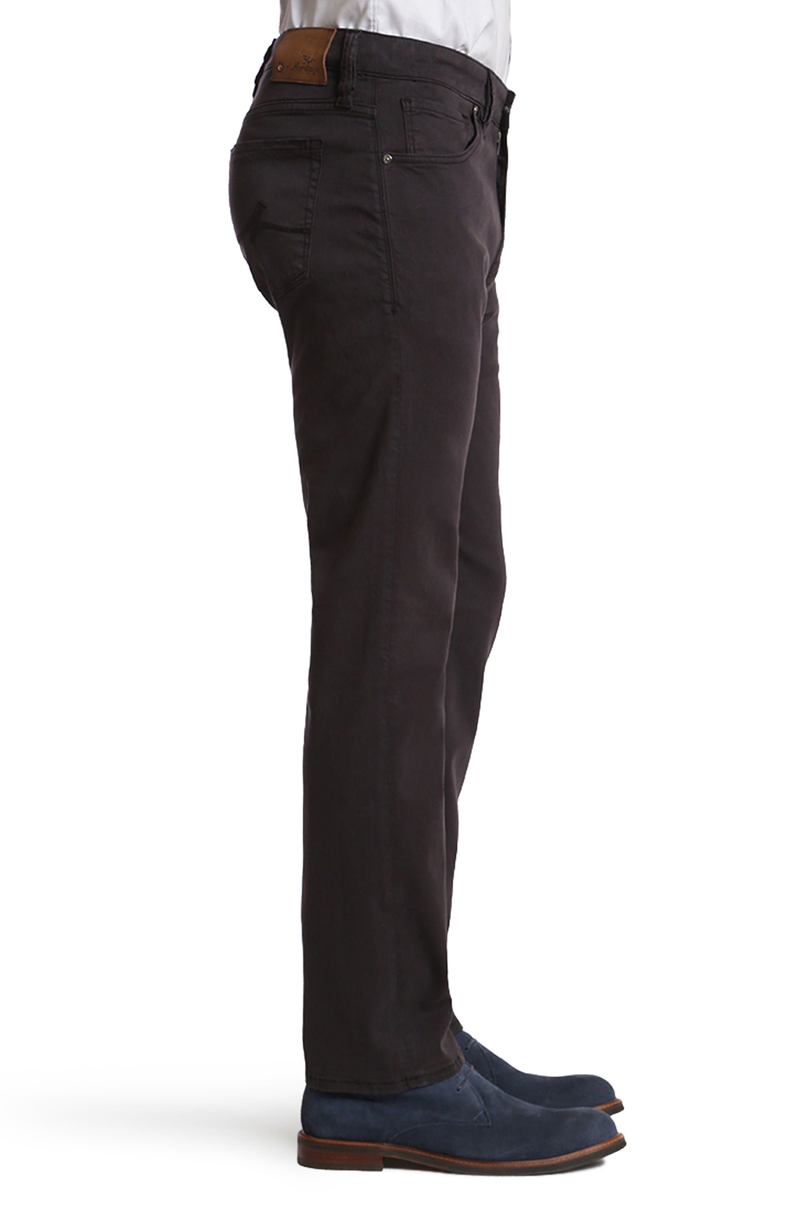 Courage Straight Leg Twill Pants,                             Alternate thumbnail 3, color,                             BLUE-GREY TWILL