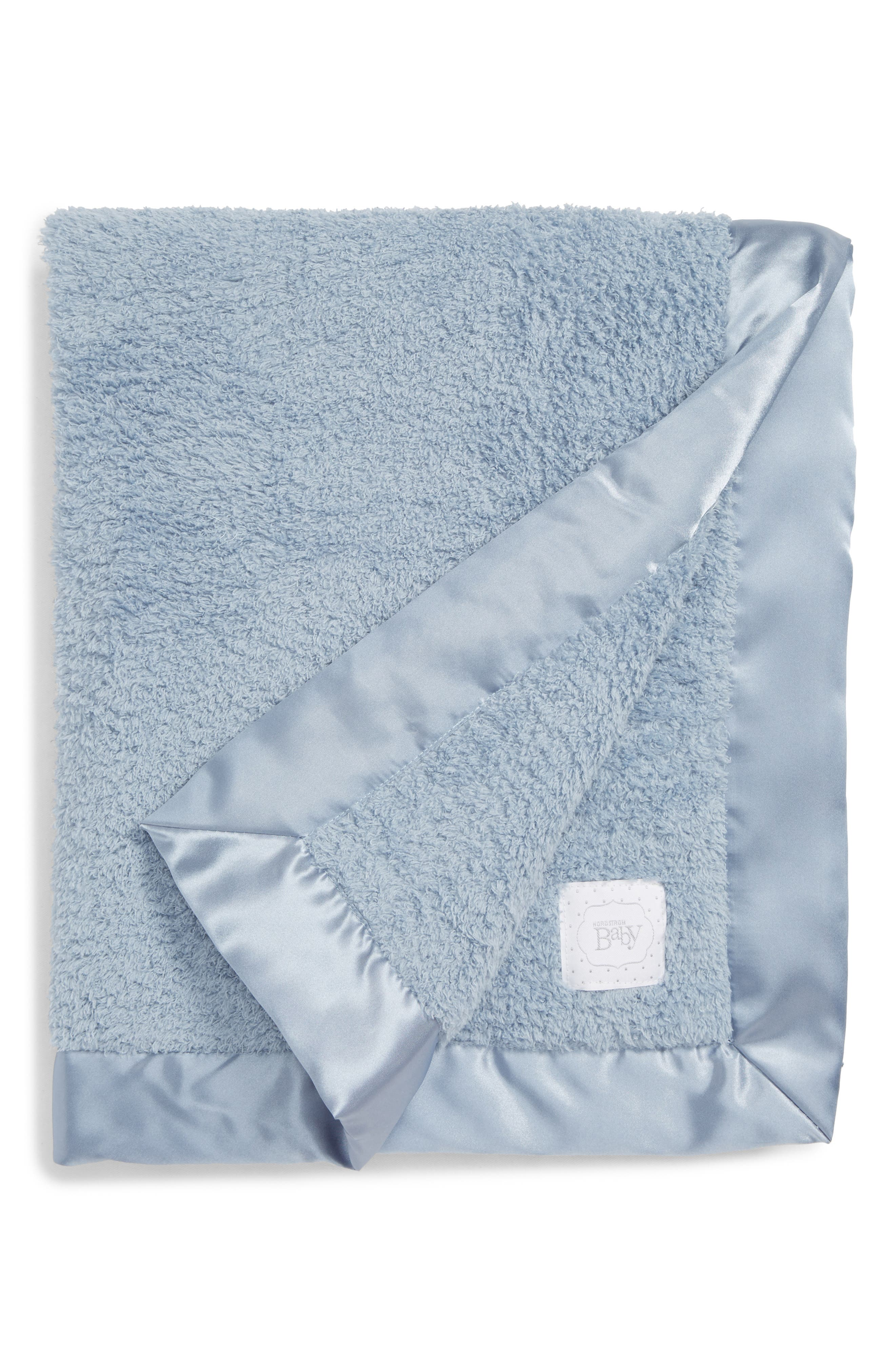 Luxe Chenille Blanket,                         Main,                         color, BLUE DRIZZLE