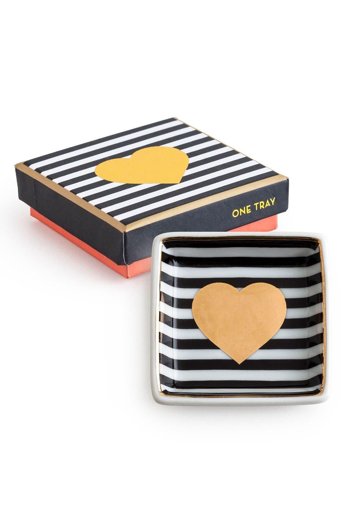 'Heart' Porcelain Trinket Dish,                             Main thumbnail 1, color,                             001