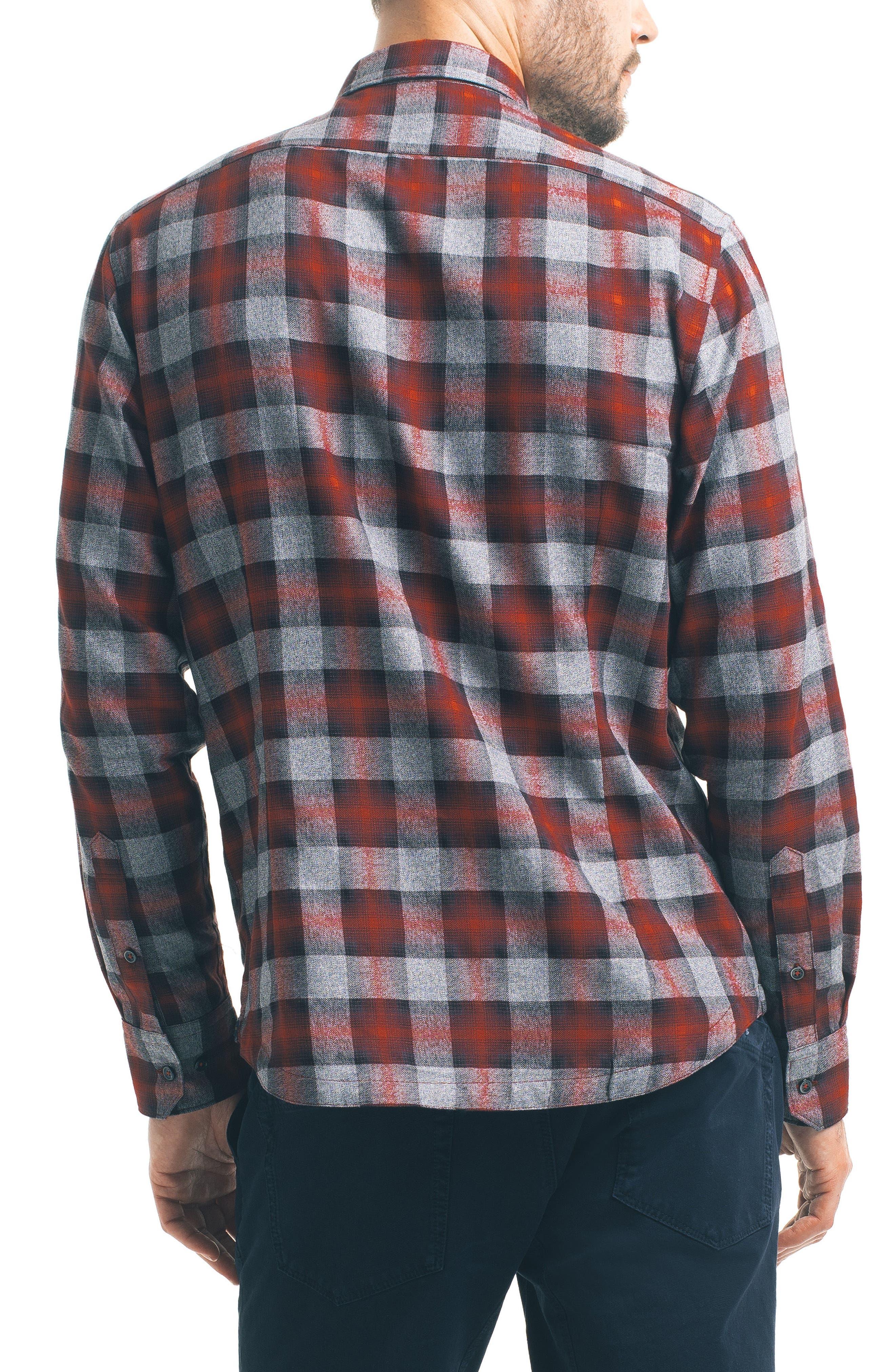 Slim Fit Plaid Sport Shirt,                             Alternate thumbnail 2, color,                             600