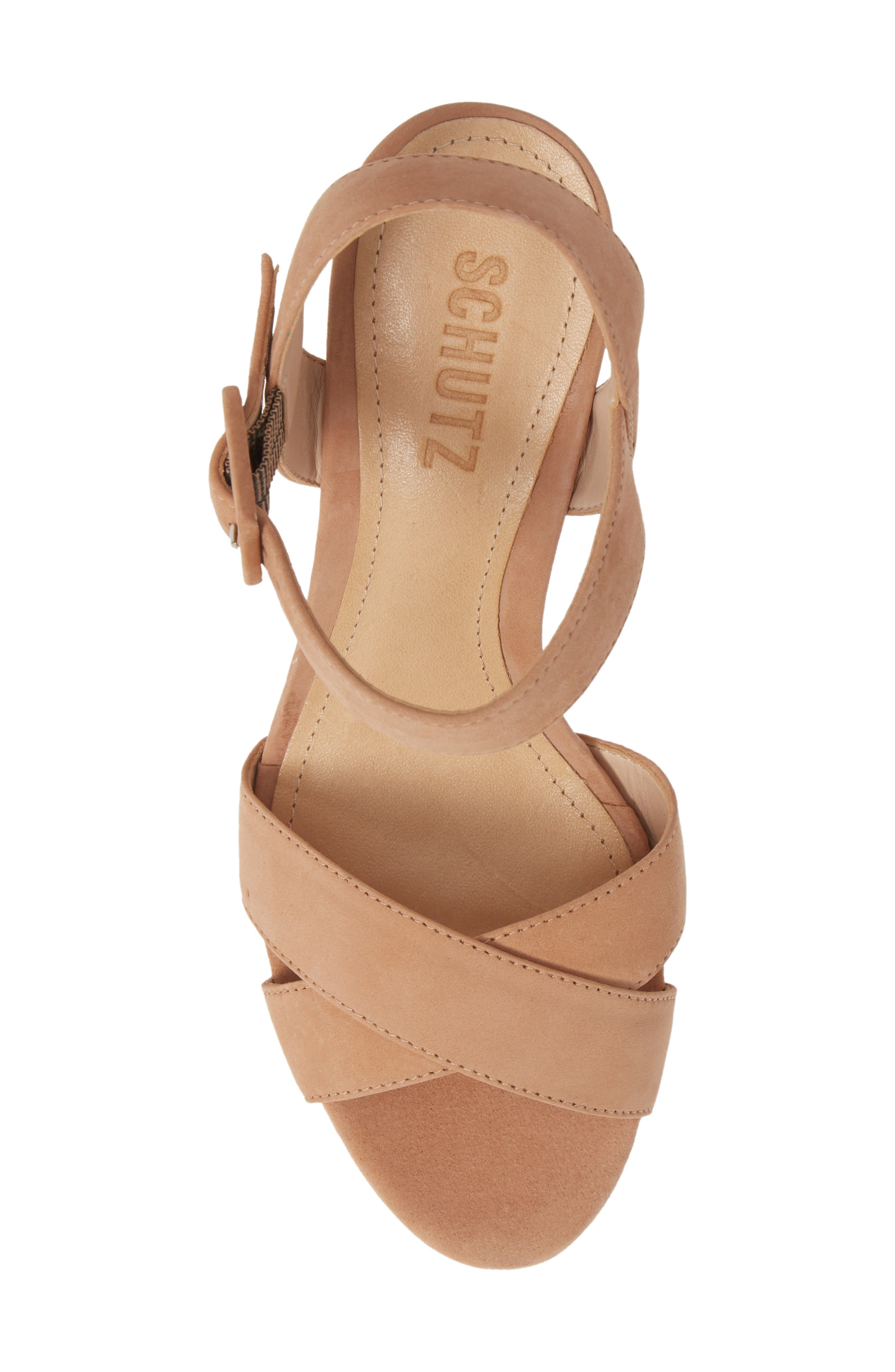 Tulia Sandal,                             Alternate thumbnail 5, color,                             HONEY BEIGE NUBUCK