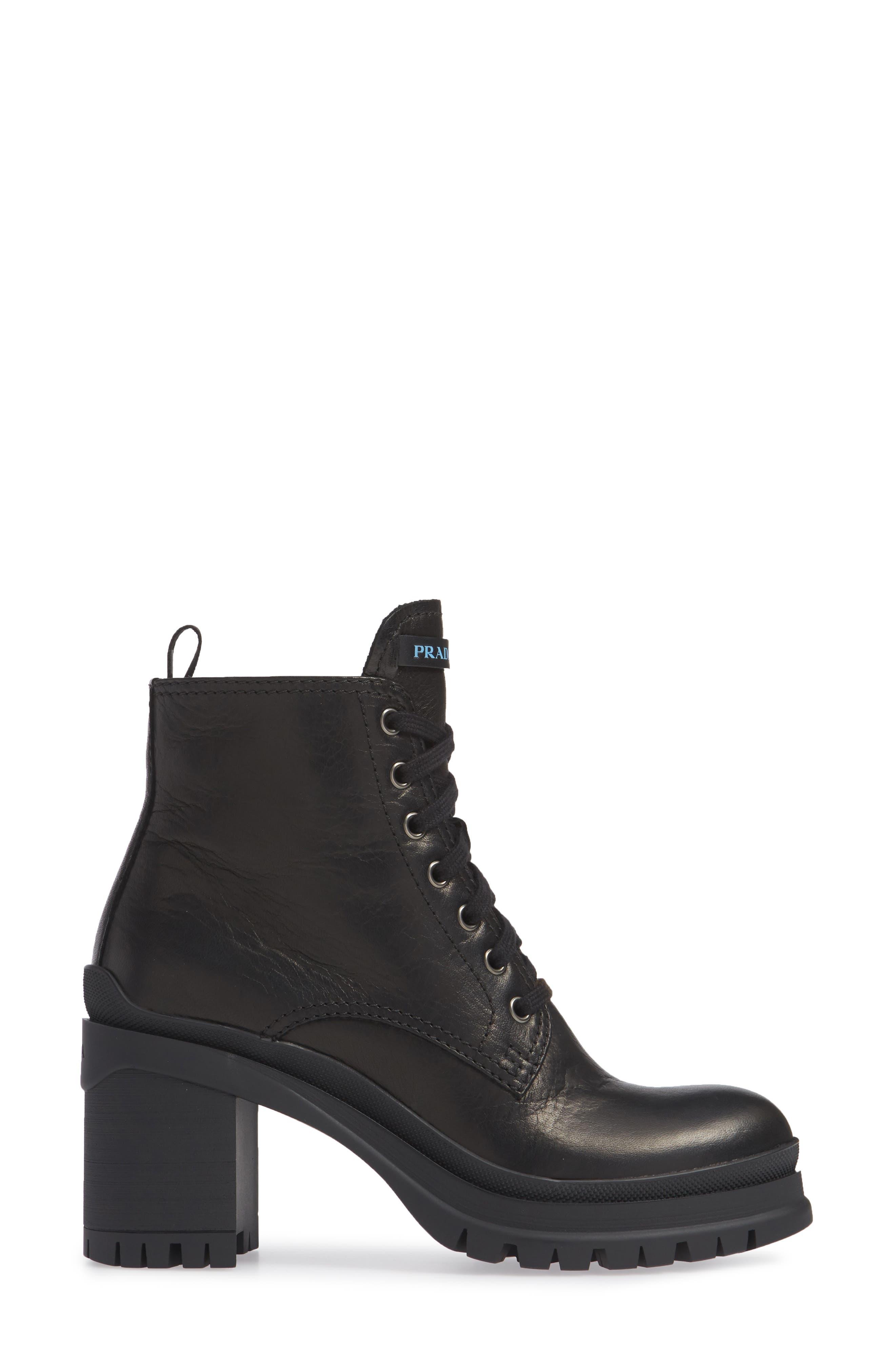Block Heel Combat Boot,                             Alternate thumbnail 3, color,