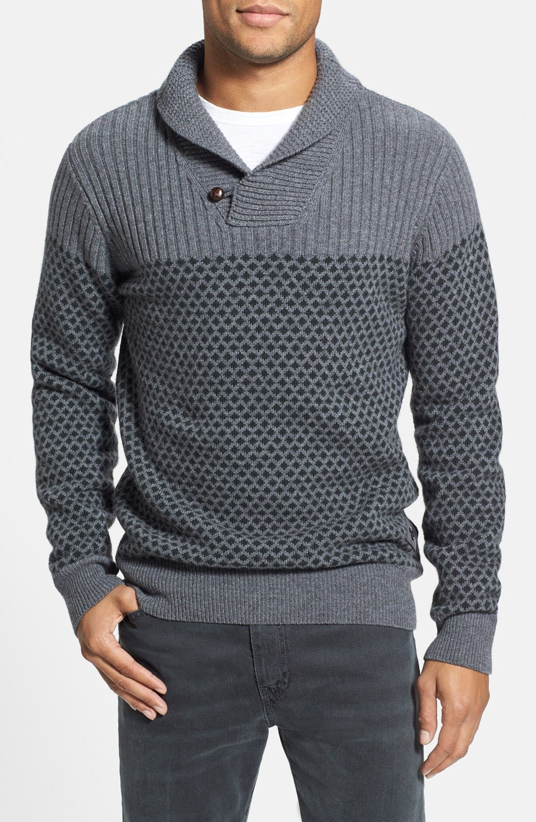 'Windale' Regular Fit Wool Shawl Collar Sweater,                         Main,                         color, 031