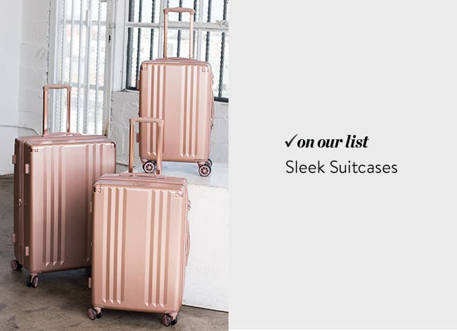 Sleek suitcases.