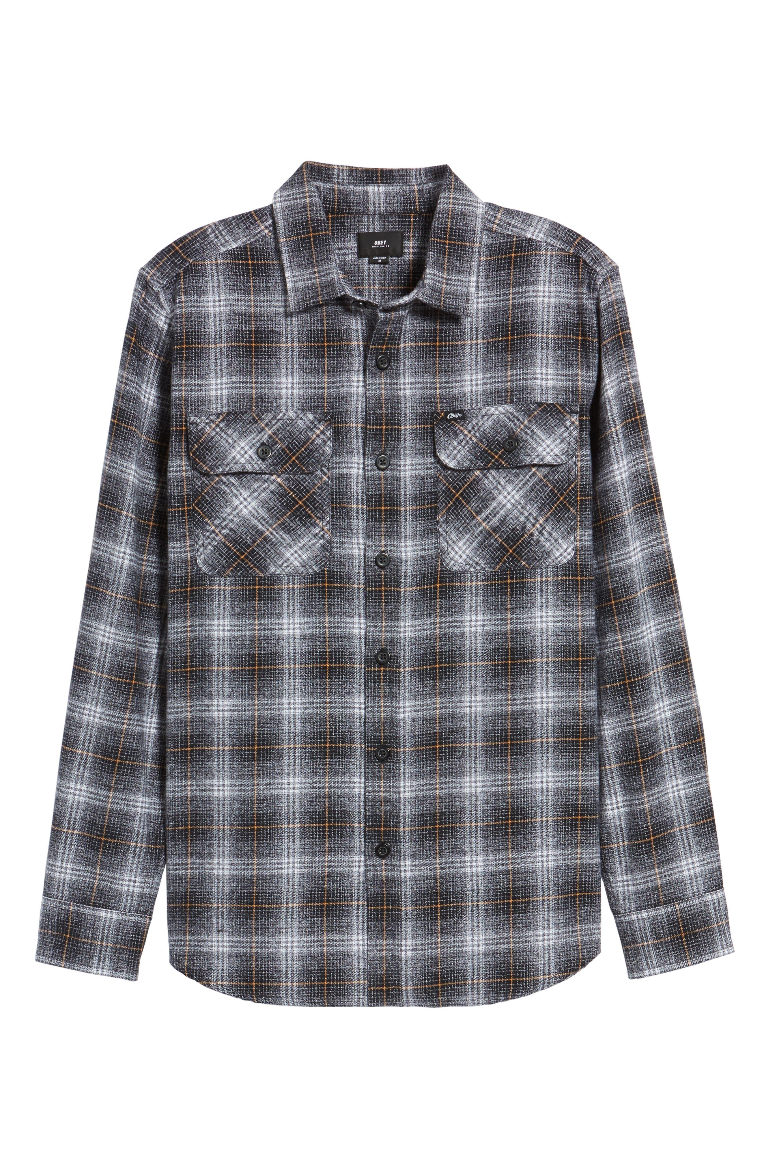 Shriner Flannel Shirt,                             Alternate thumbnail 6, color,                             002