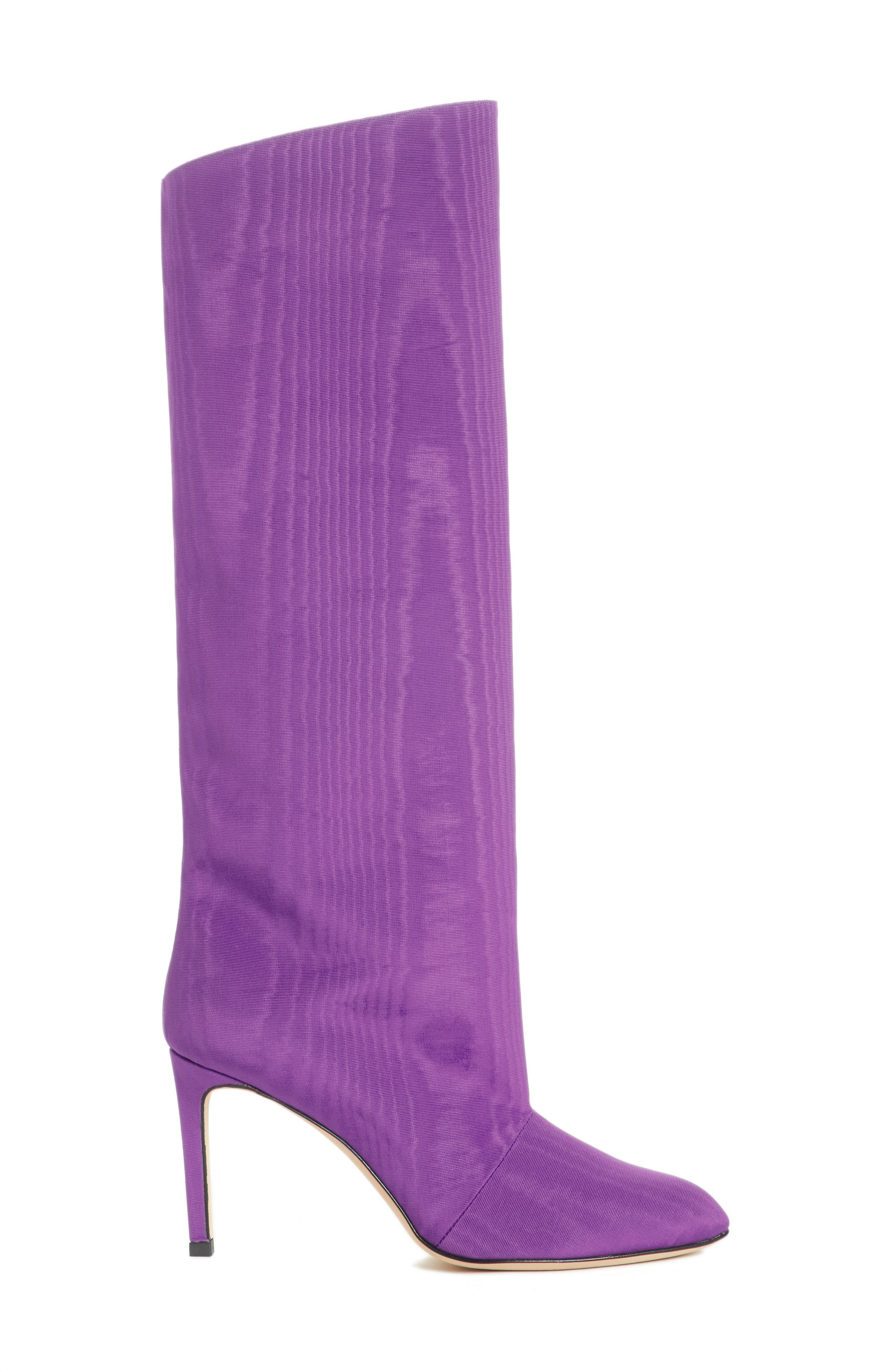 MARSKINRYYPPY,                             Knee High Moiré Boot,                             Alternate thumbnail 3, color,                             500